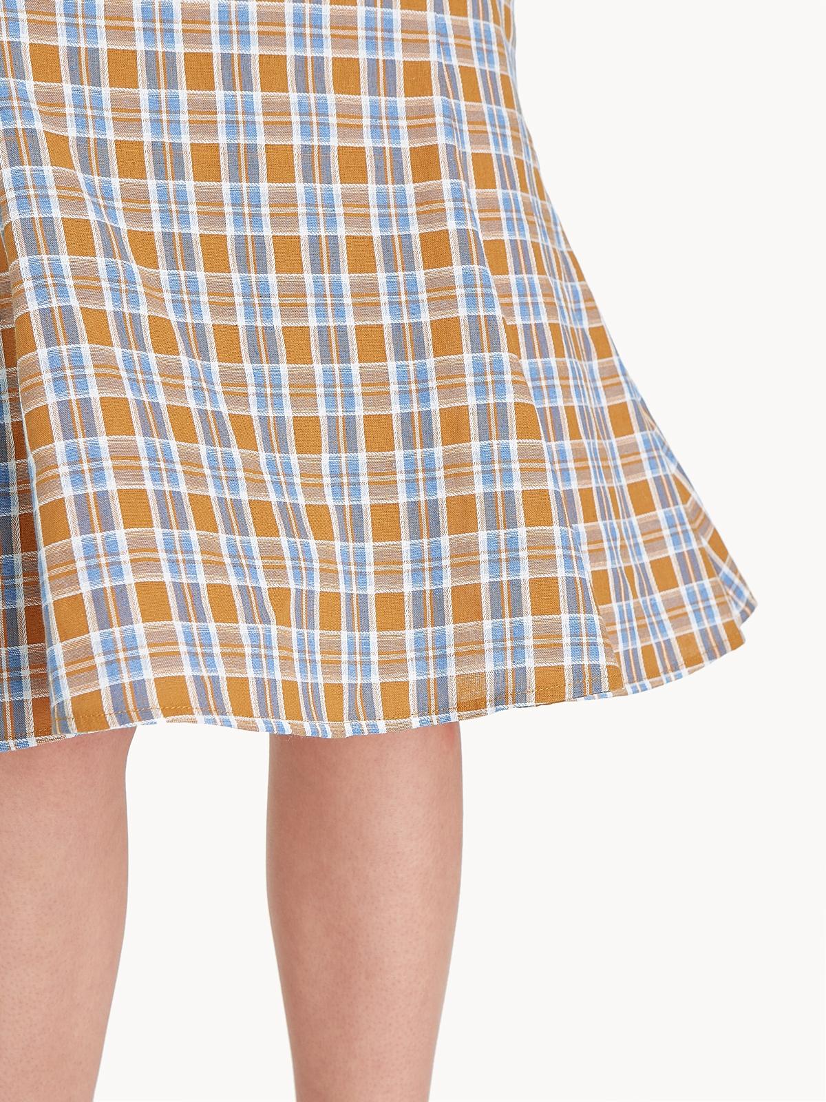 Midi Tartan Pencil Skirt