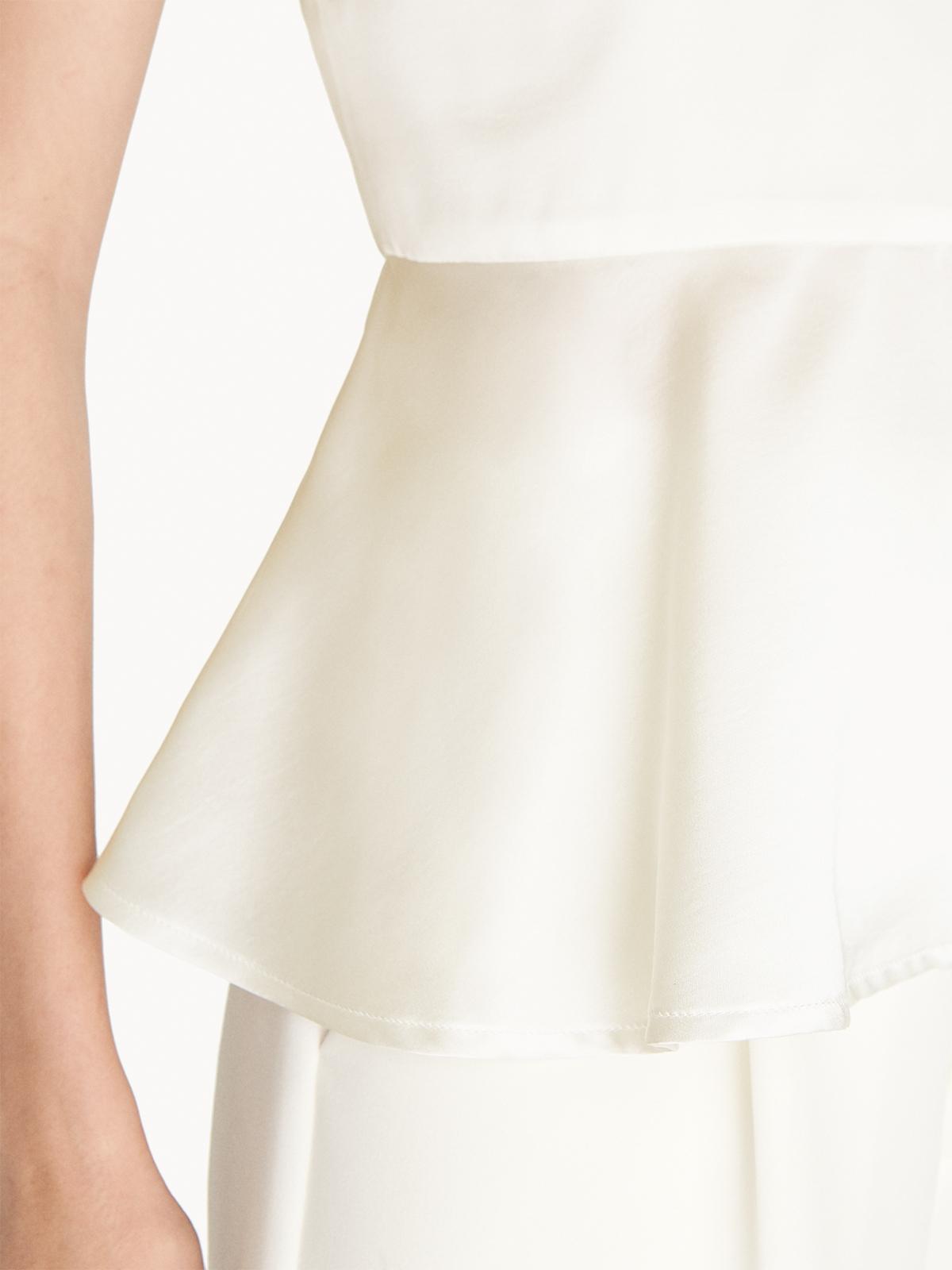 Sleeveless Peplum Top White