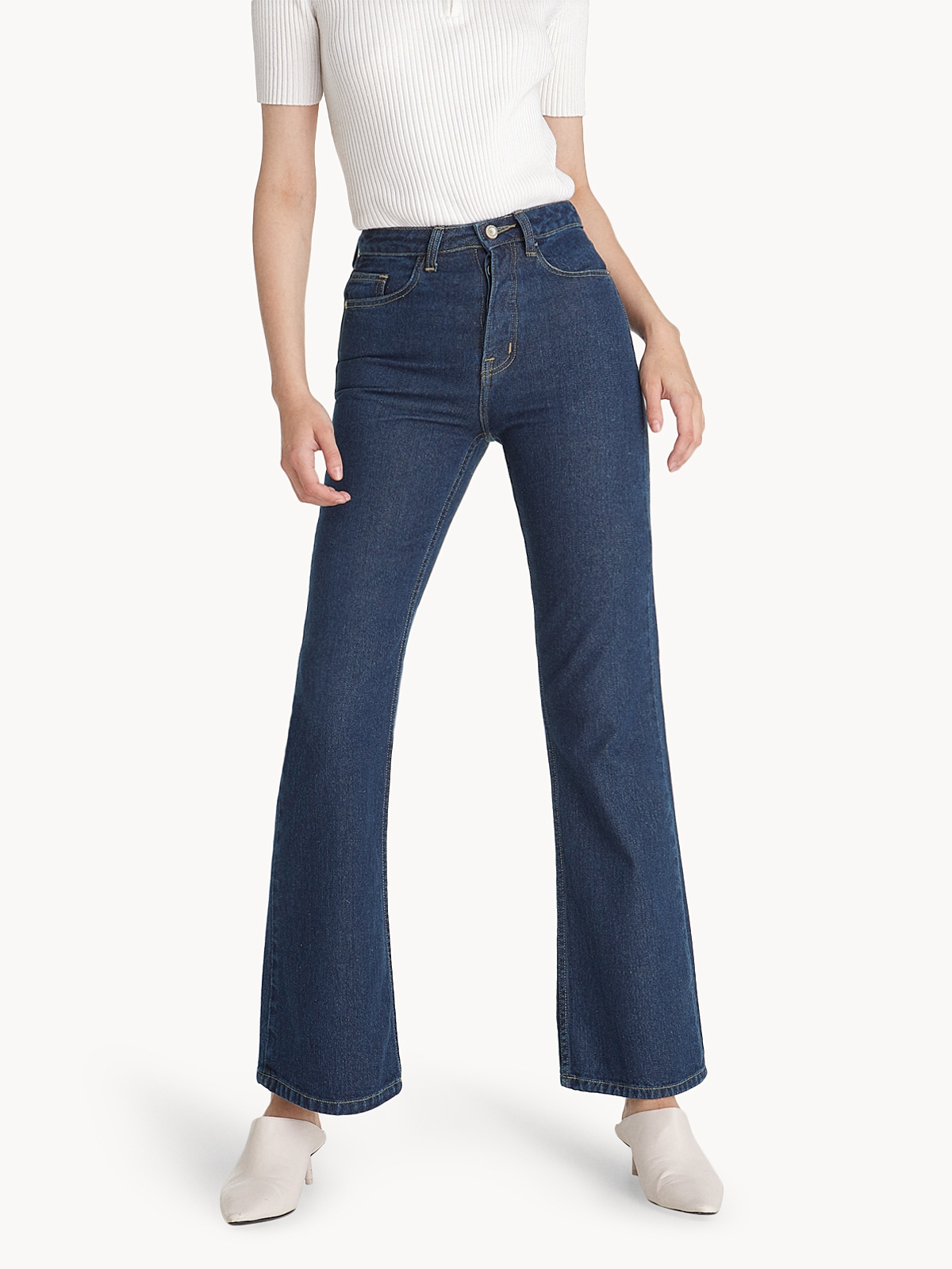Mid Rise Flare Jeans