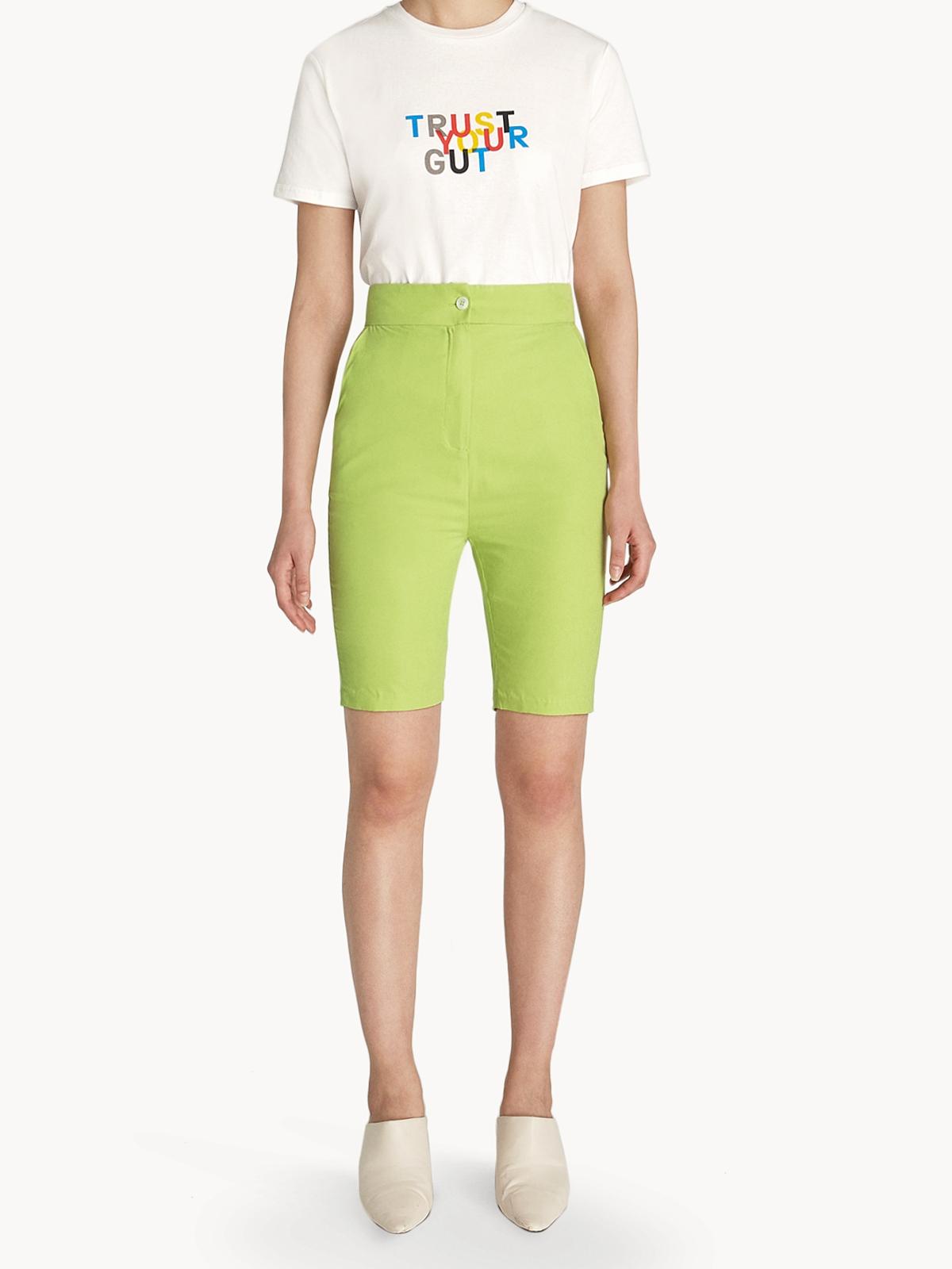 Knee Length Shorts Light Green