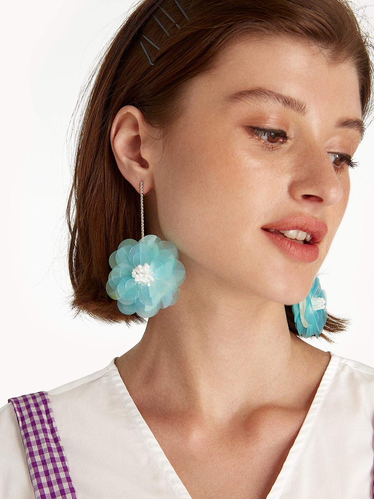 Blossom Drop Earrings Blue