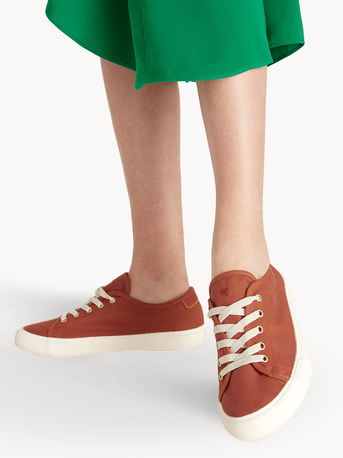 Alexis Lace Up Sneakers Orange