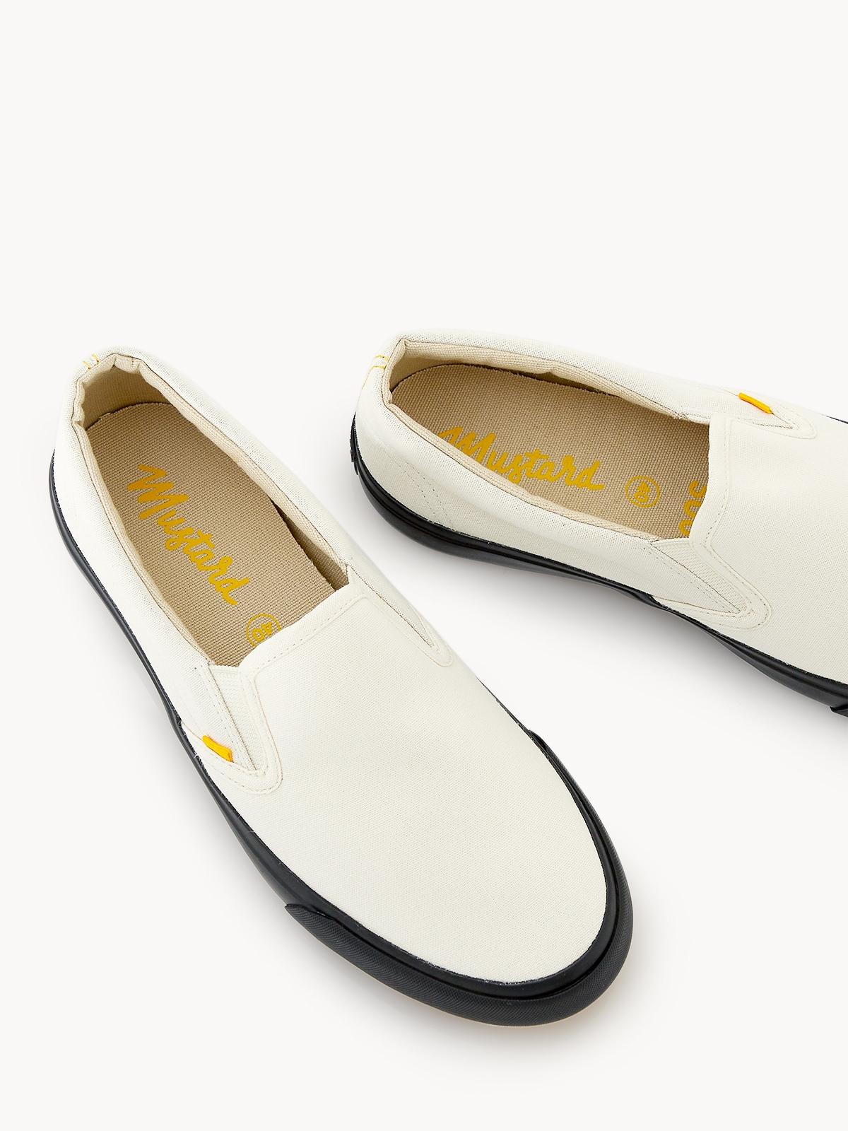 Slip On Sneakers Coal White