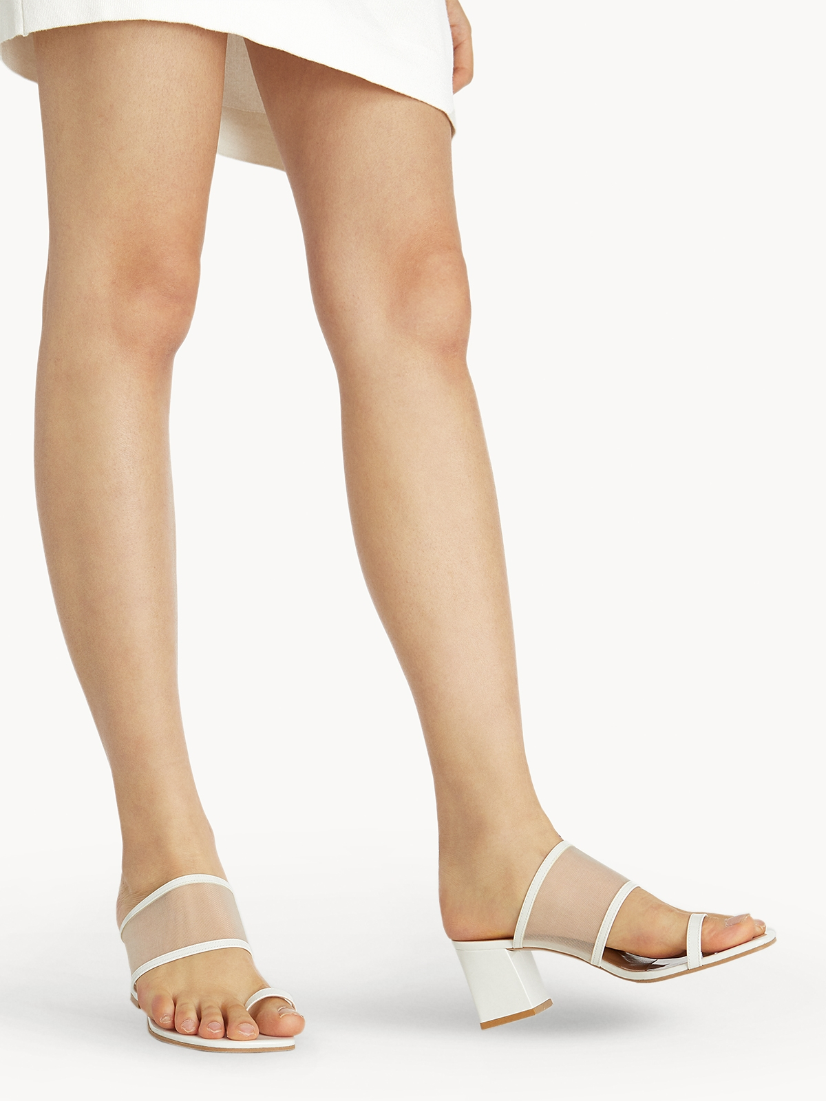 Prove Toe Ring Heeled Sandals White