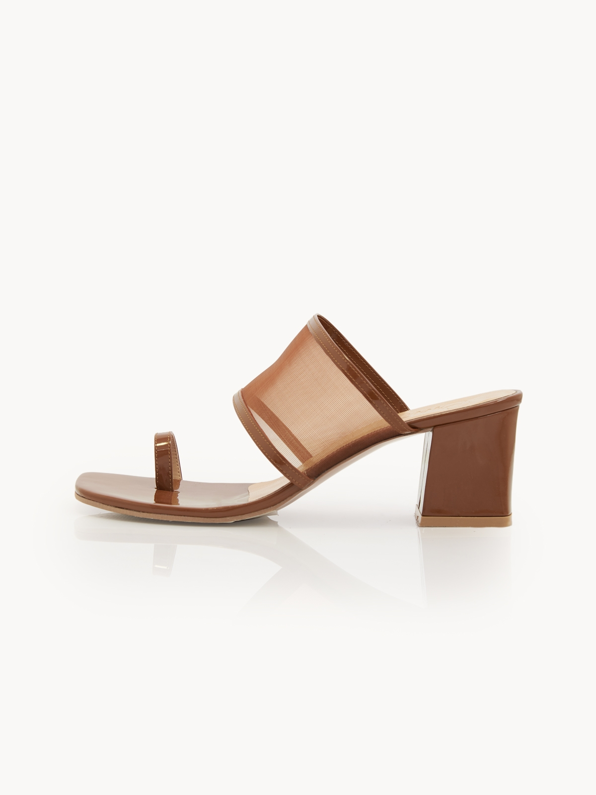 Prove Toe Ring Heeled Sandals Brown