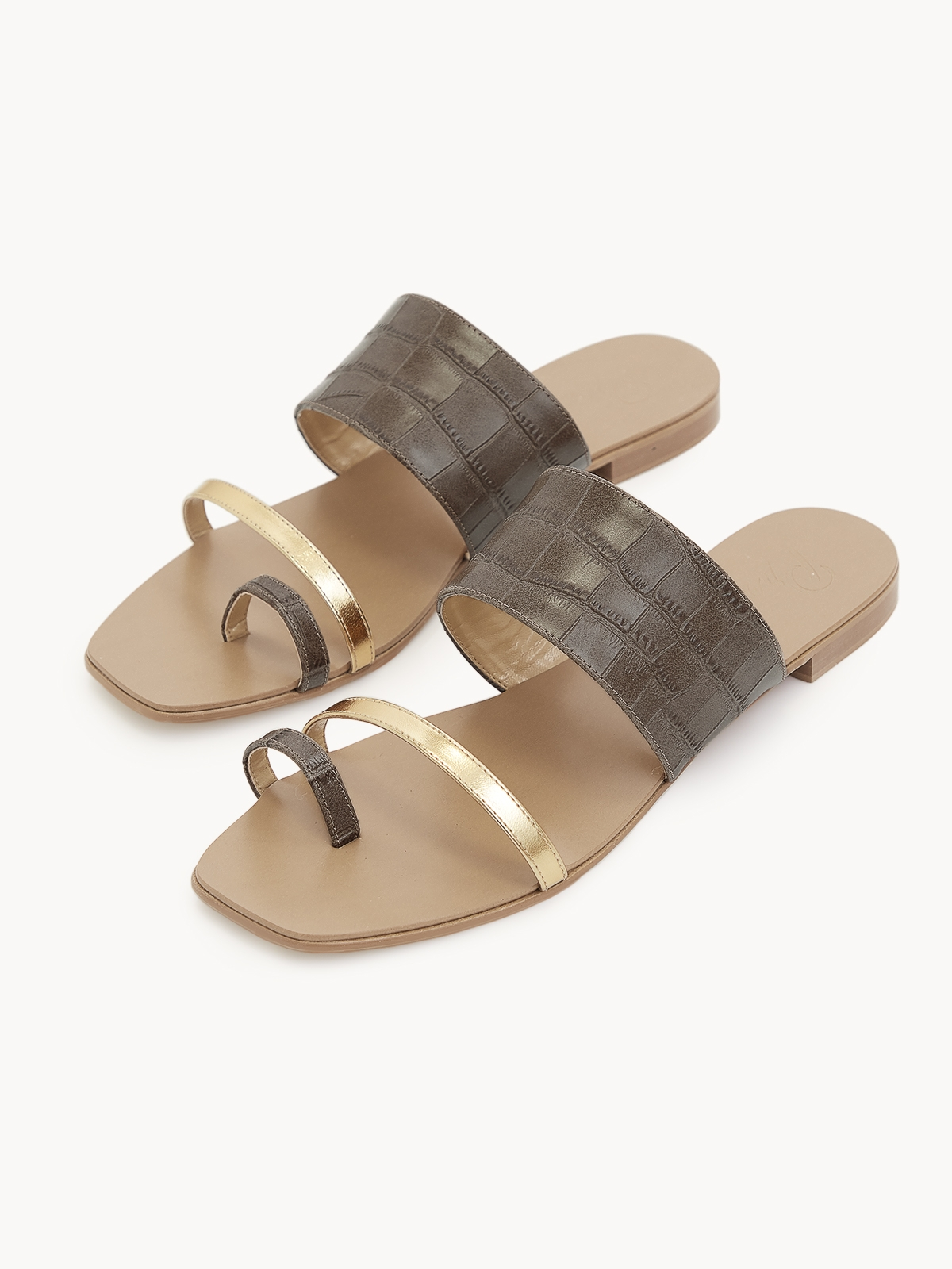Prove Toe Ring Sandals Brown
