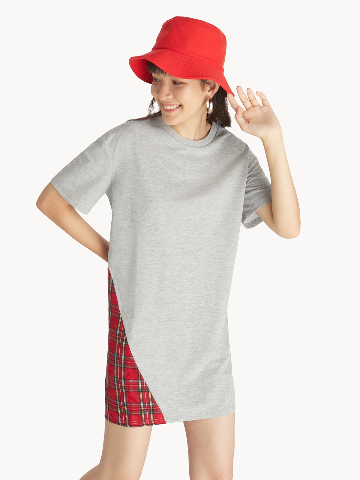 Stripe Denim Beret Hat Blue