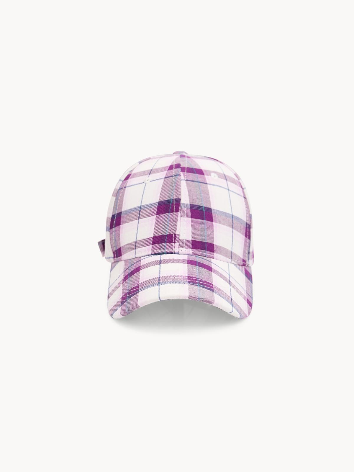 Tartan Cap Pink