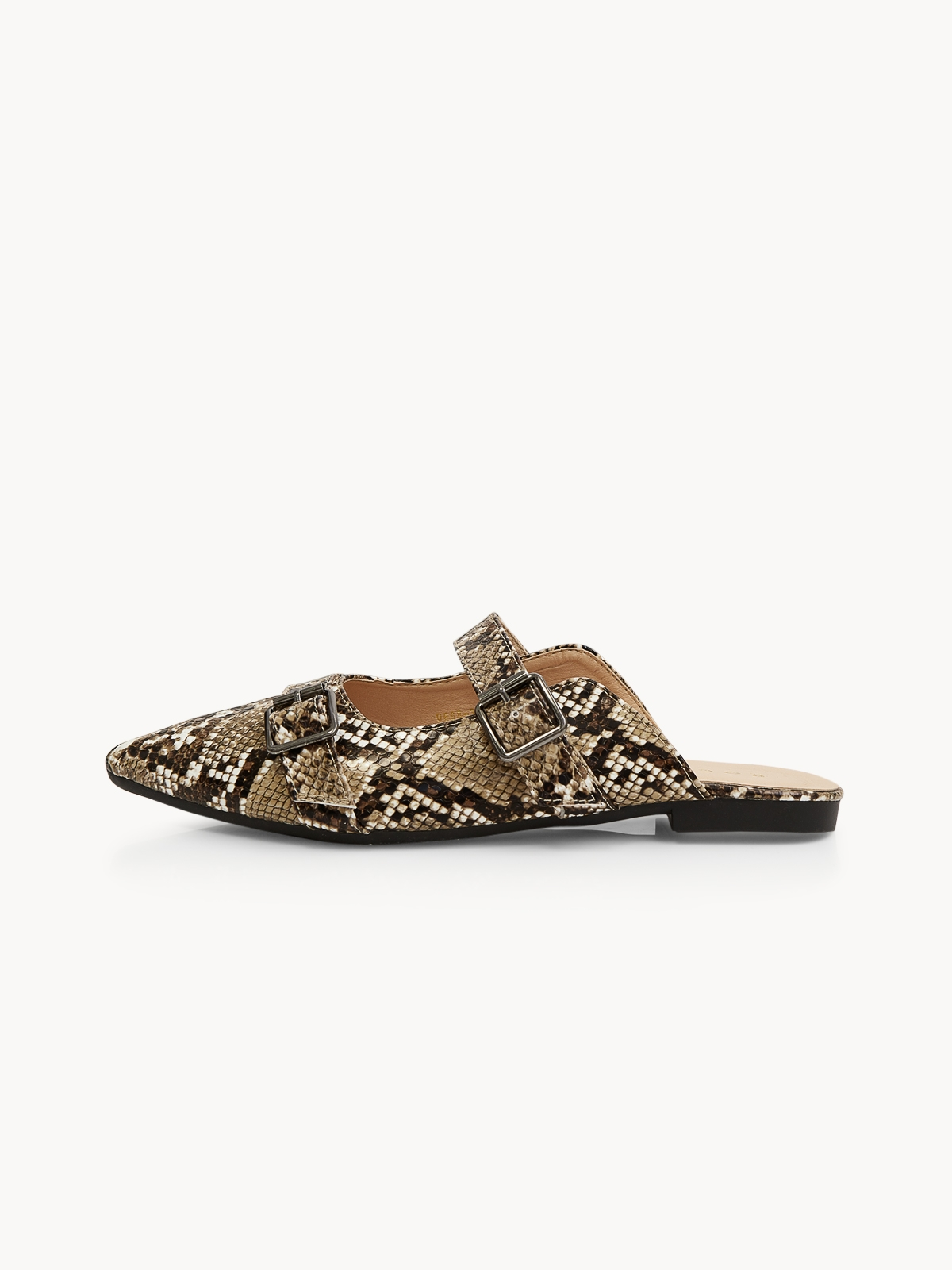 Rocket And Planet Alicia Double Buckle Slippers Brown
