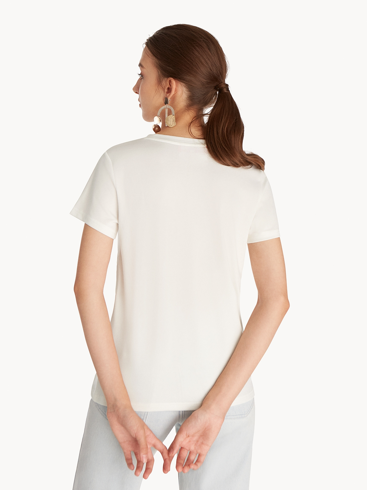 Side Knot Tee White