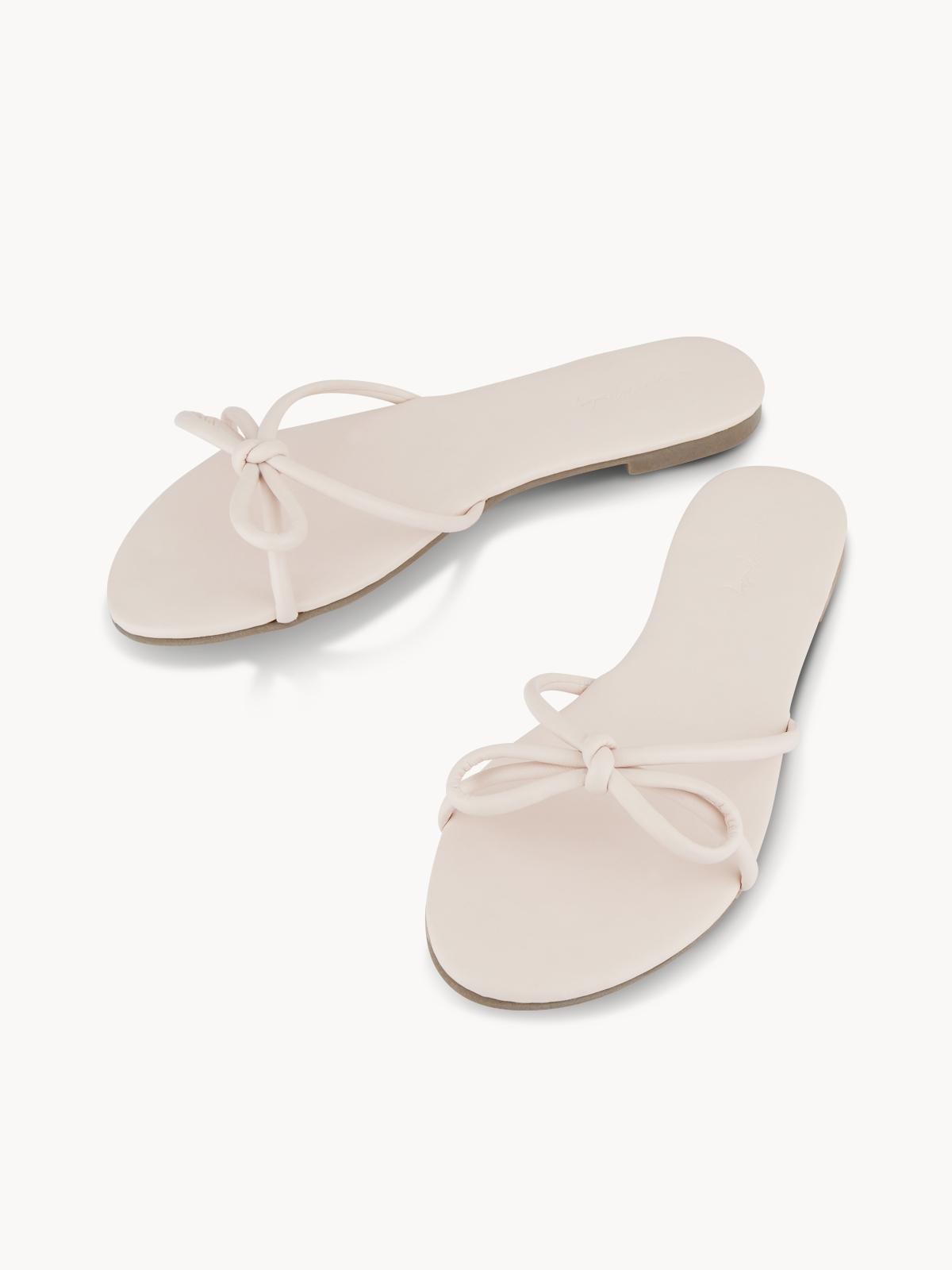 Sugar Monday Mimi Bow Flip Flops Pink
