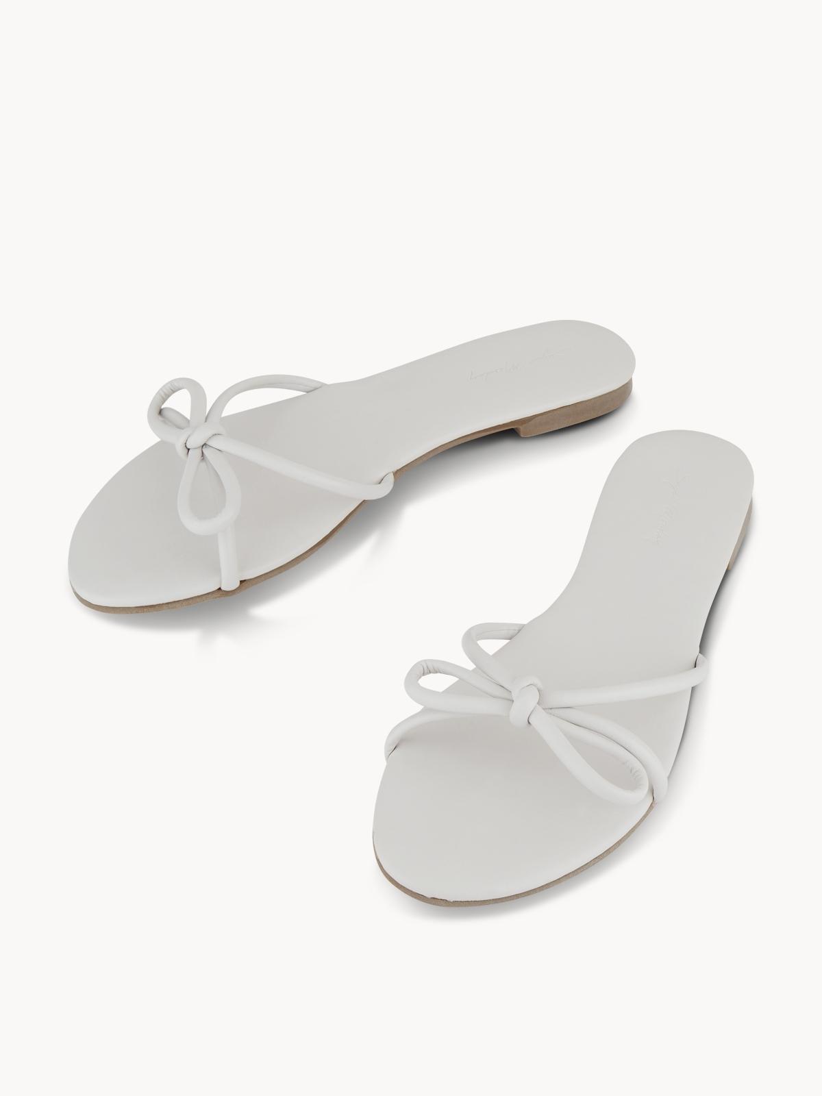 Sugar Monday Mimi Bow Flip Flops Light Grey