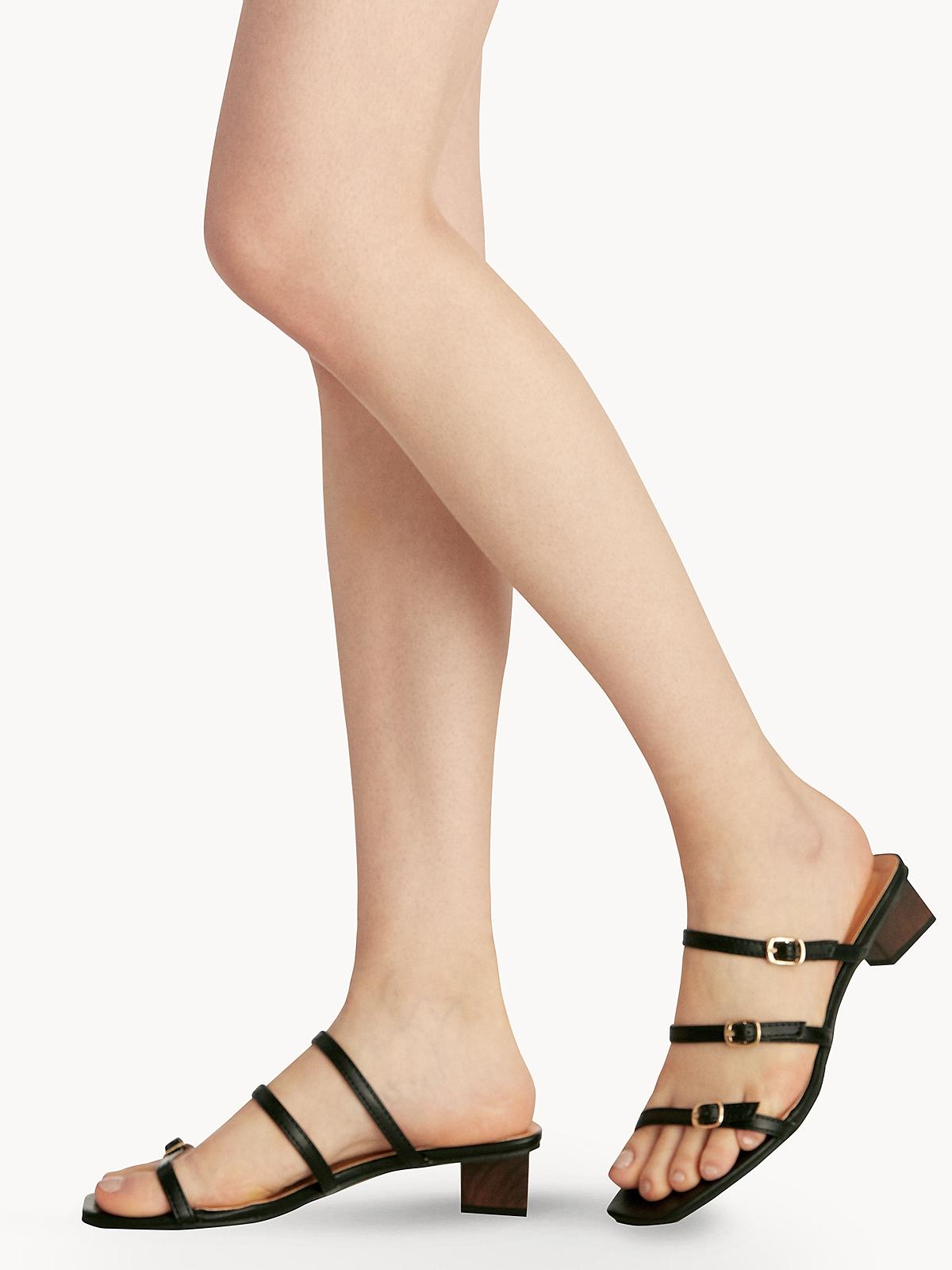 Sugar Monday Ivy Straps Sandals Black