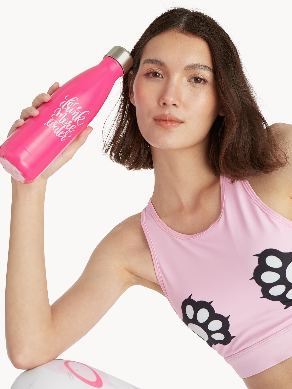 Flexi Lexi Drink More Water Tumbler Hot Pink