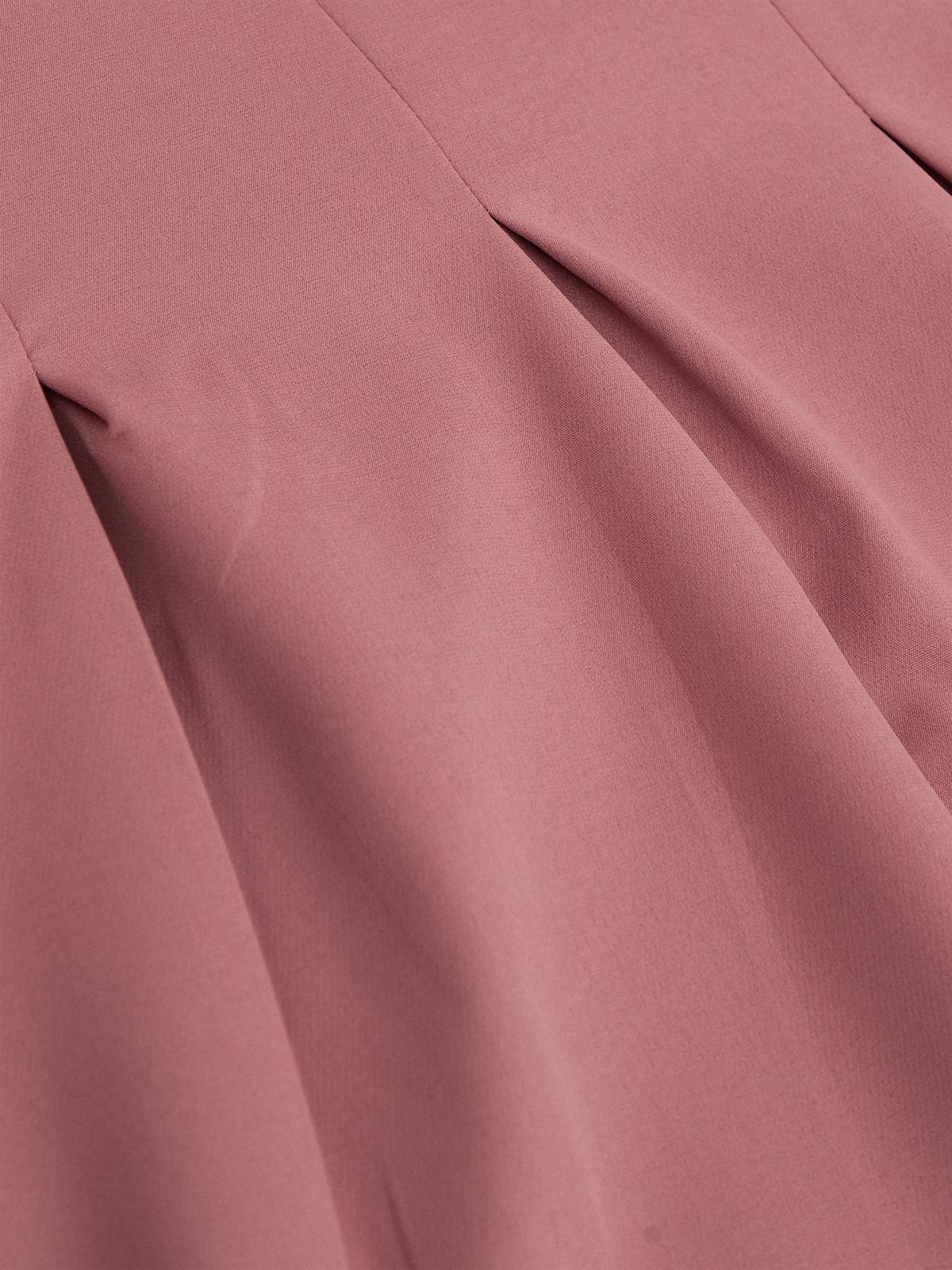 Midi Side Pockets Pleated Dress Pink