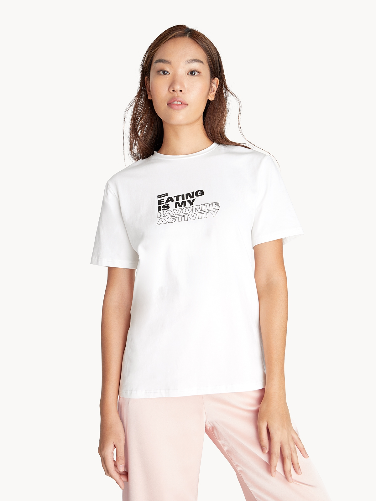 Eating Is My Fave Graphic Tee White