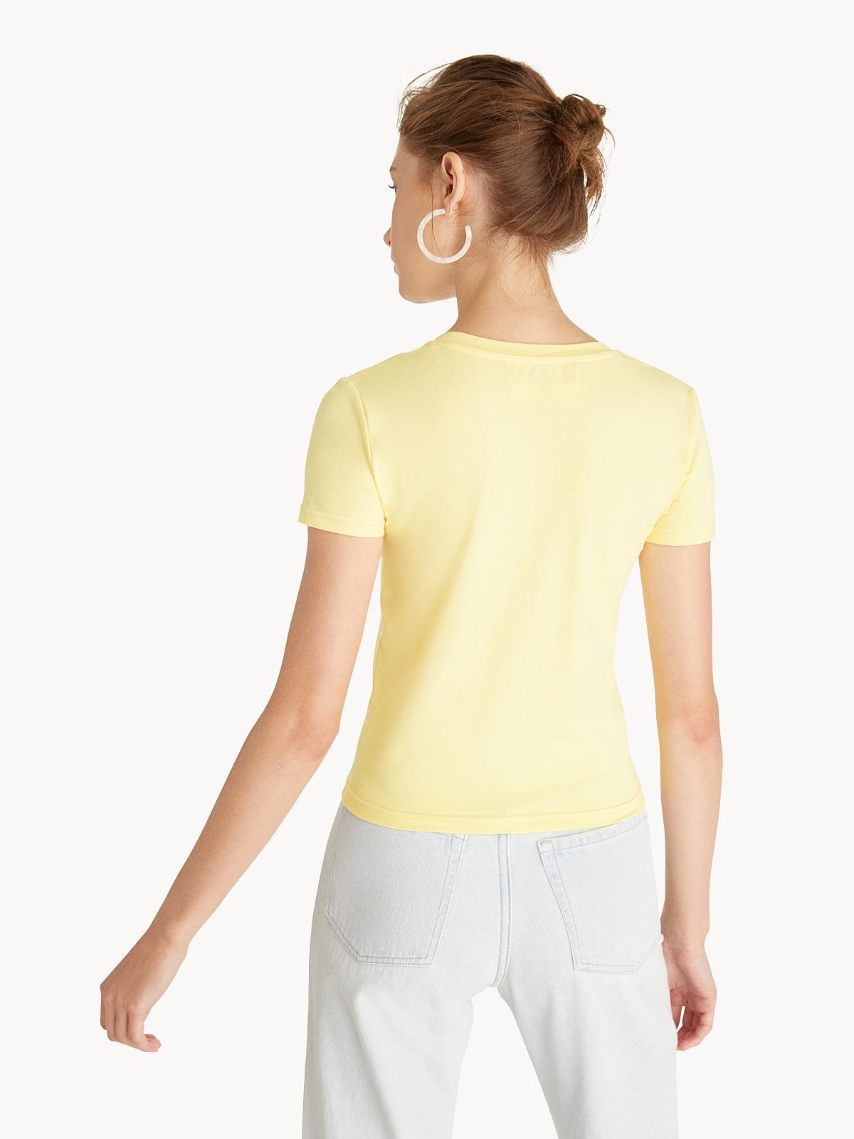 Round Neck Tee Yellow