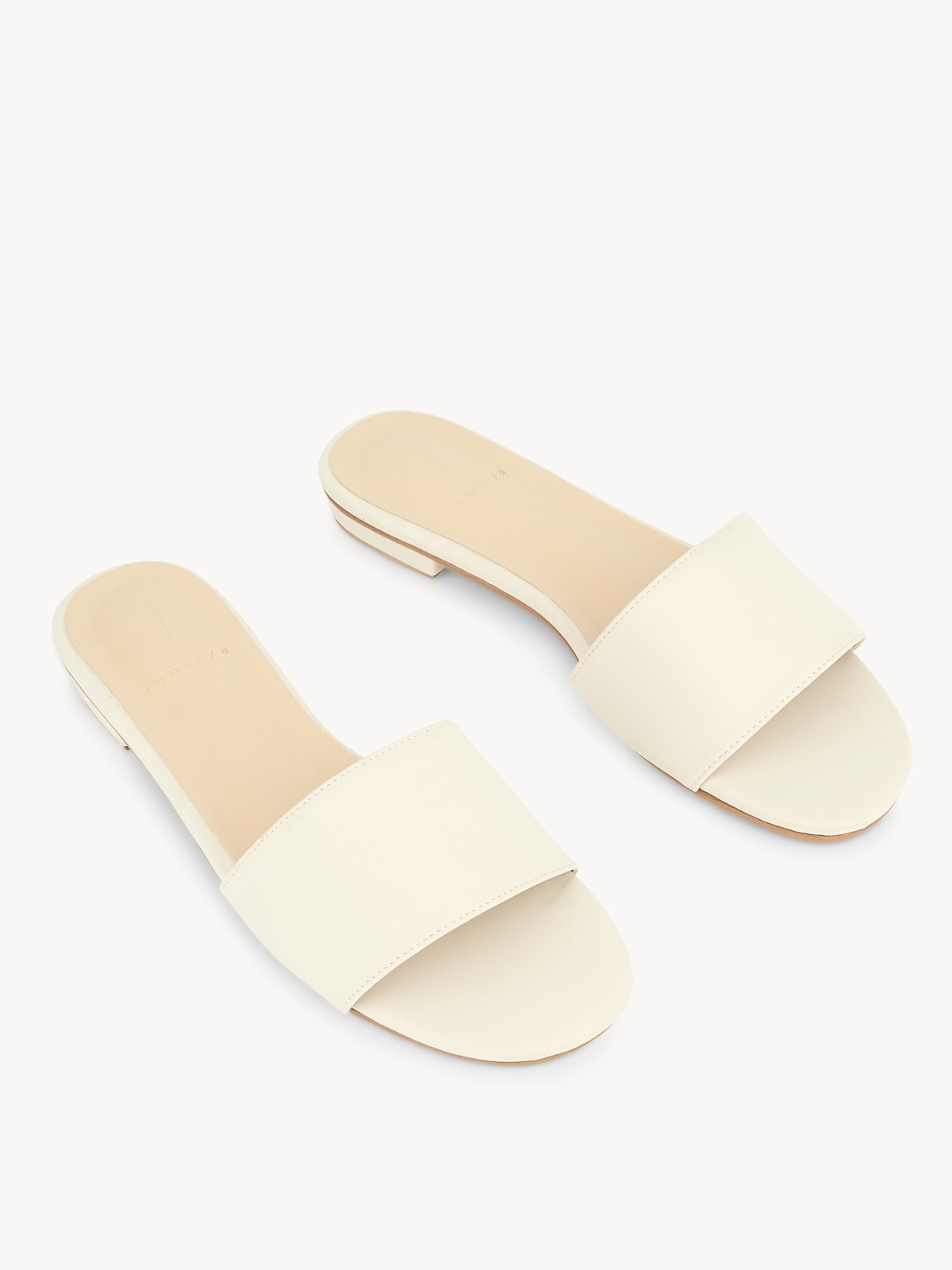 Tuntiya Mary Basic Slide Sandals White