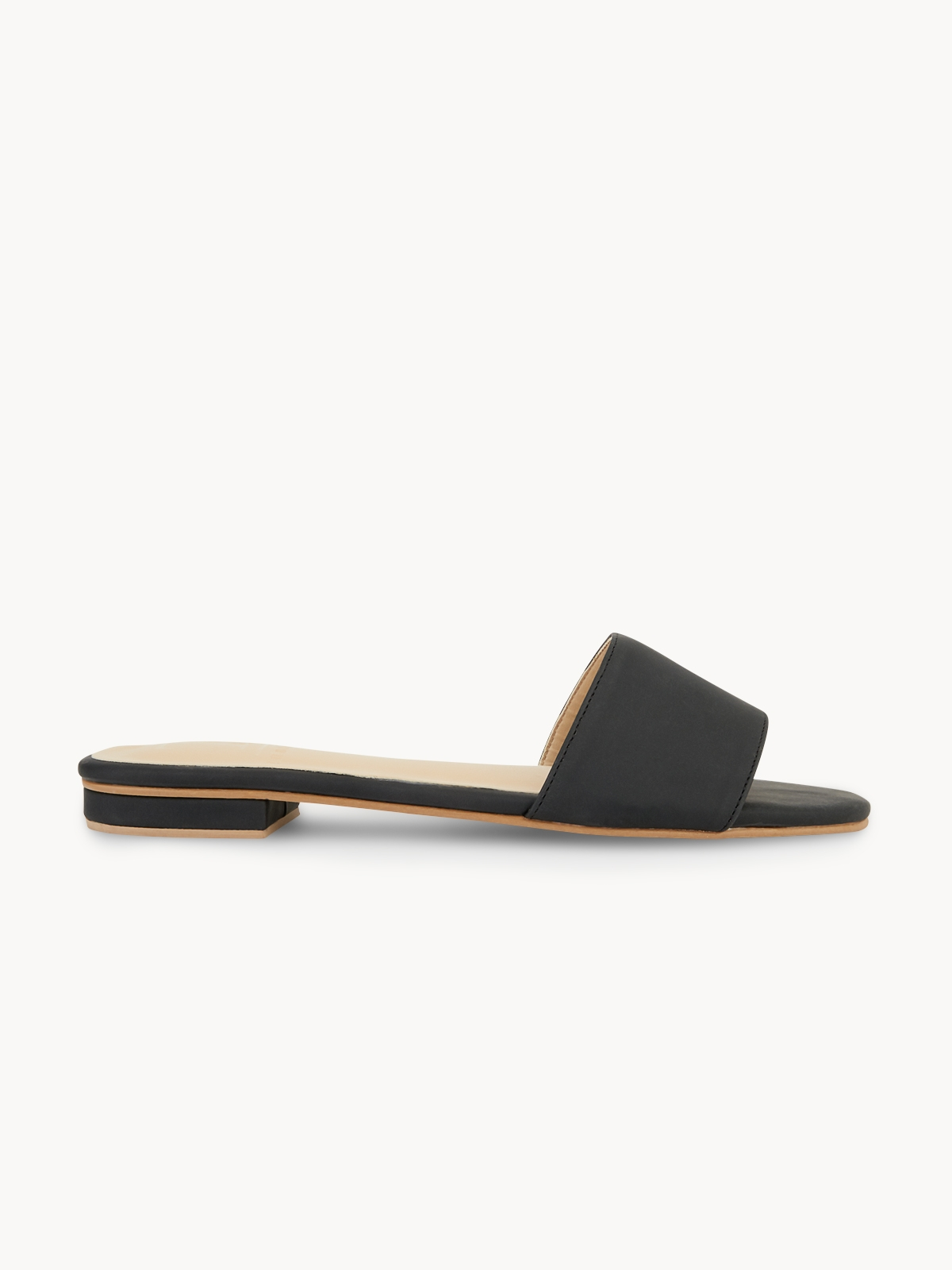 Tuntiya Mary Basic Slide Sandals Black