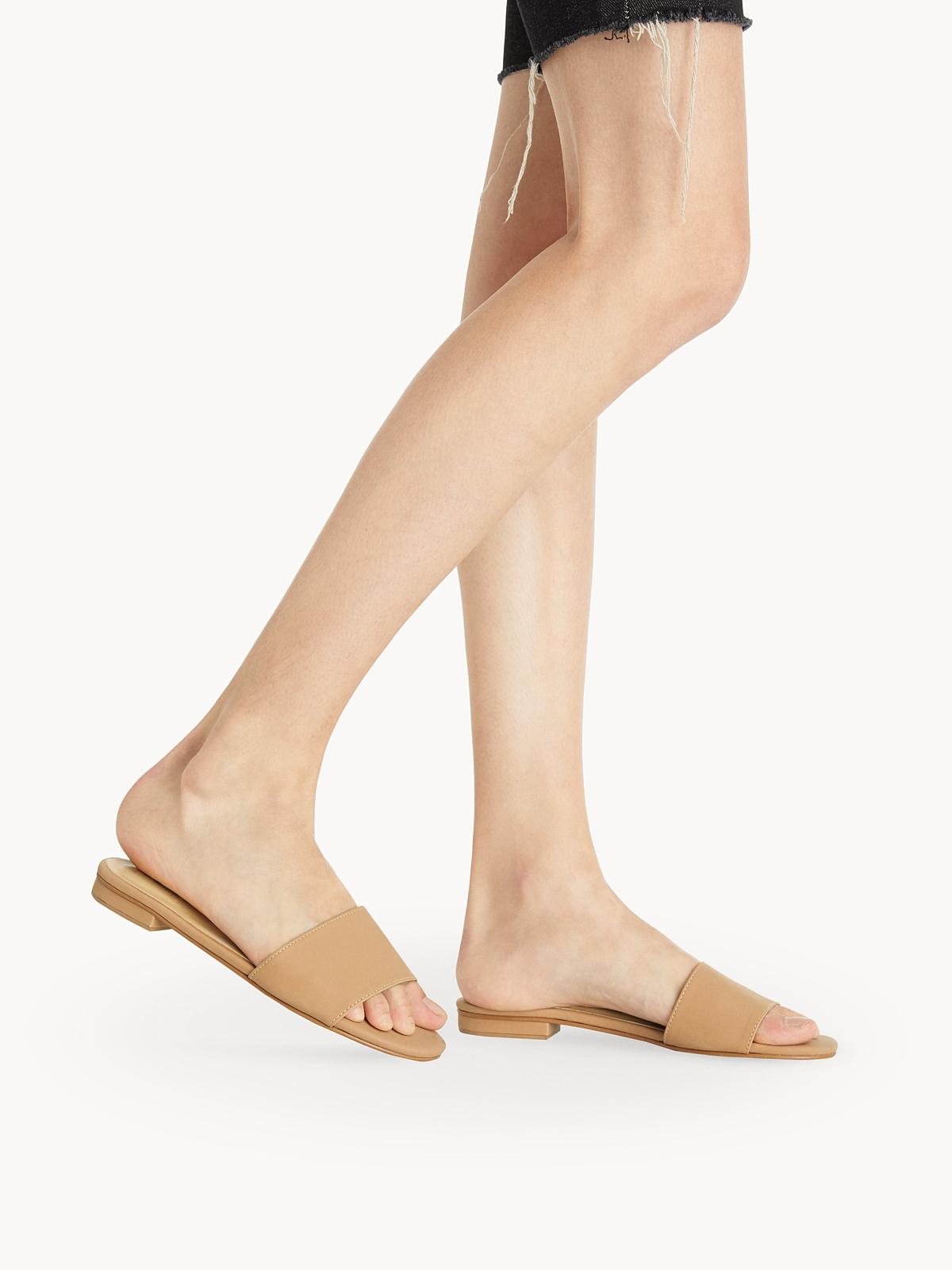 Tuntiya Mary Basic Slide Sandals Brown