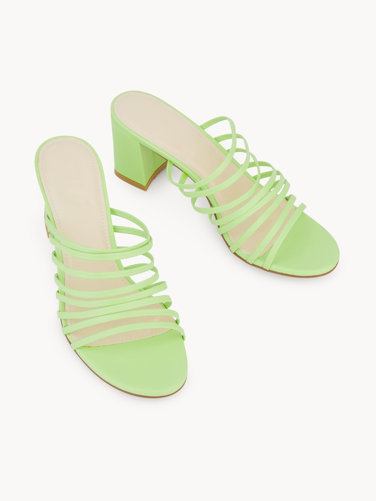 Pomelo x Rocket and Planet Strapped Heels Light Green