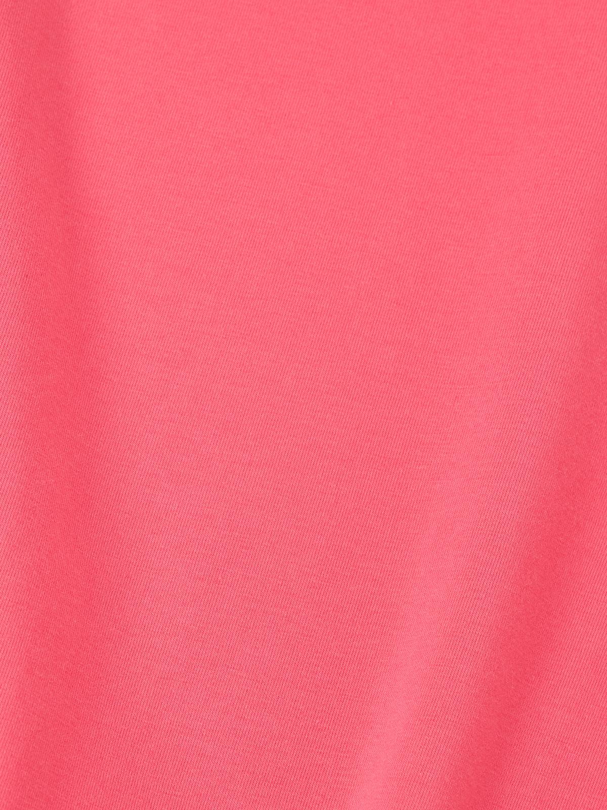 Crew Neck Basic Top Pink