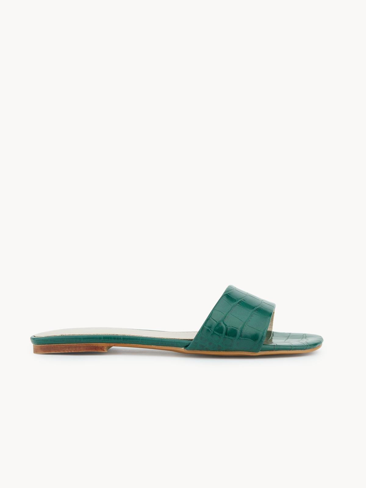Starkela Flat Sandals Dark Green