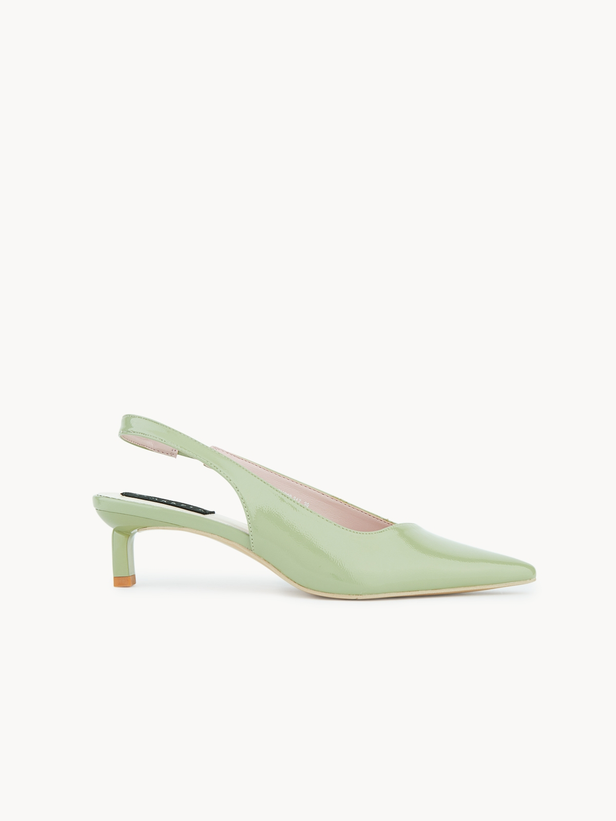 Starkela Slash Cut Slingback Heels Green