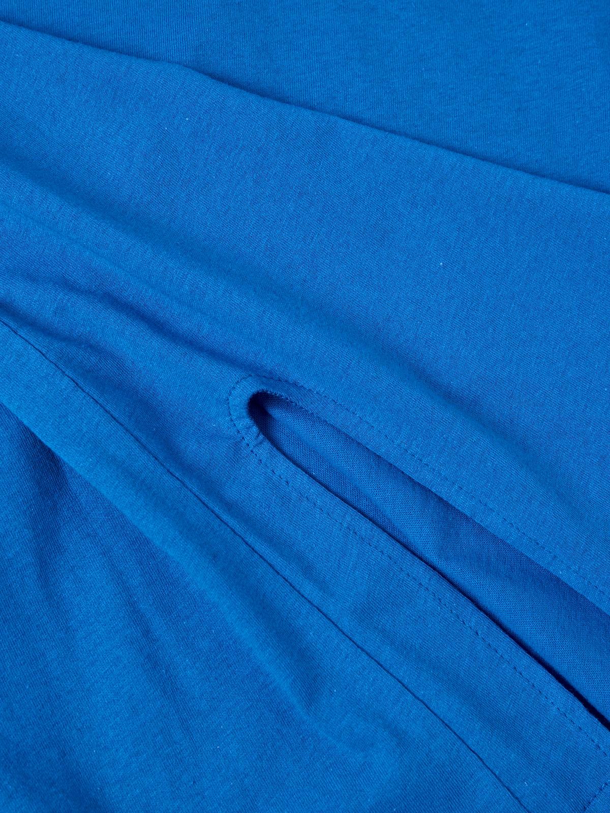 Side Slit Tee Blue