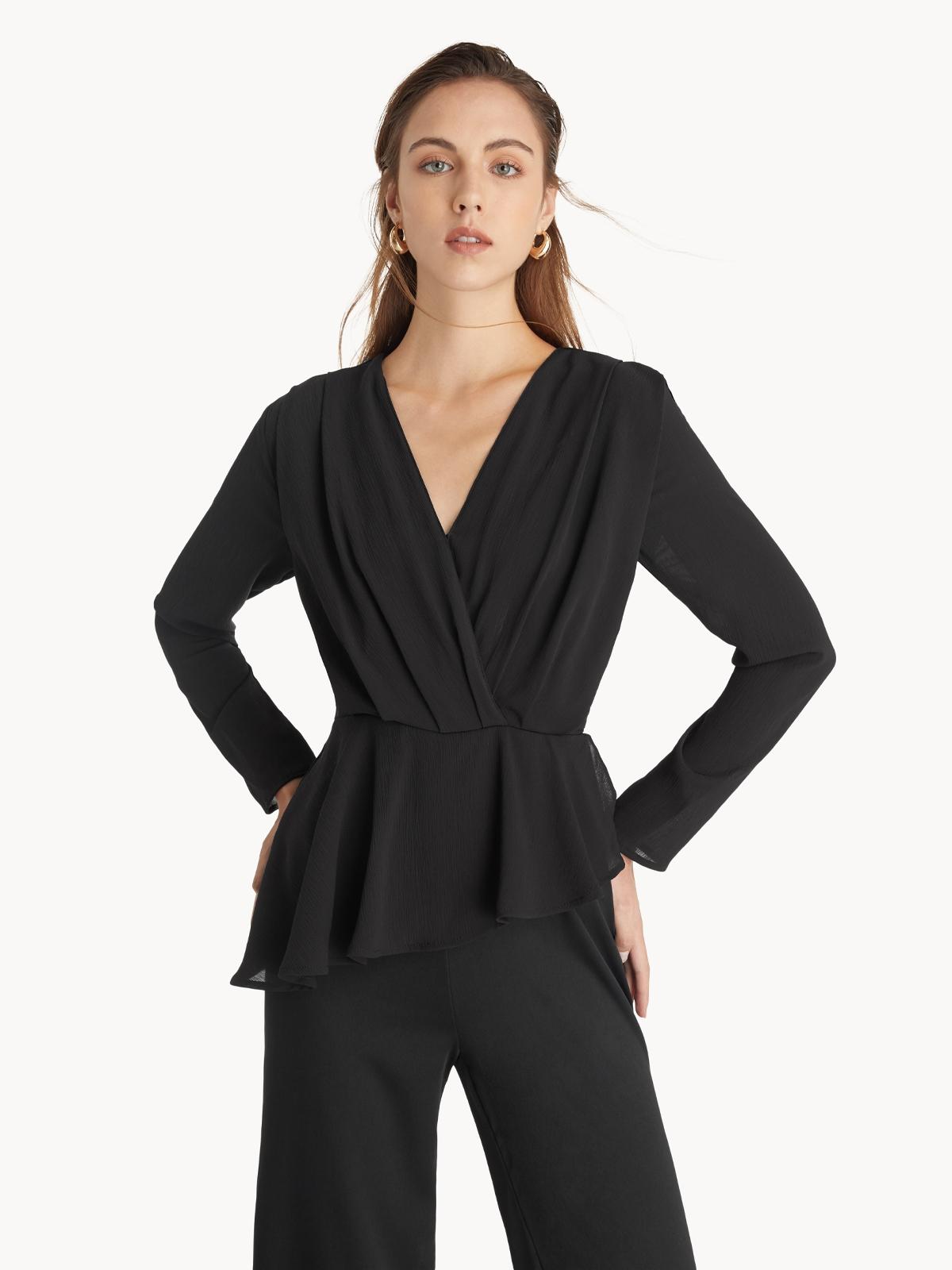 Asymmetric Hem Jumpsuit Black