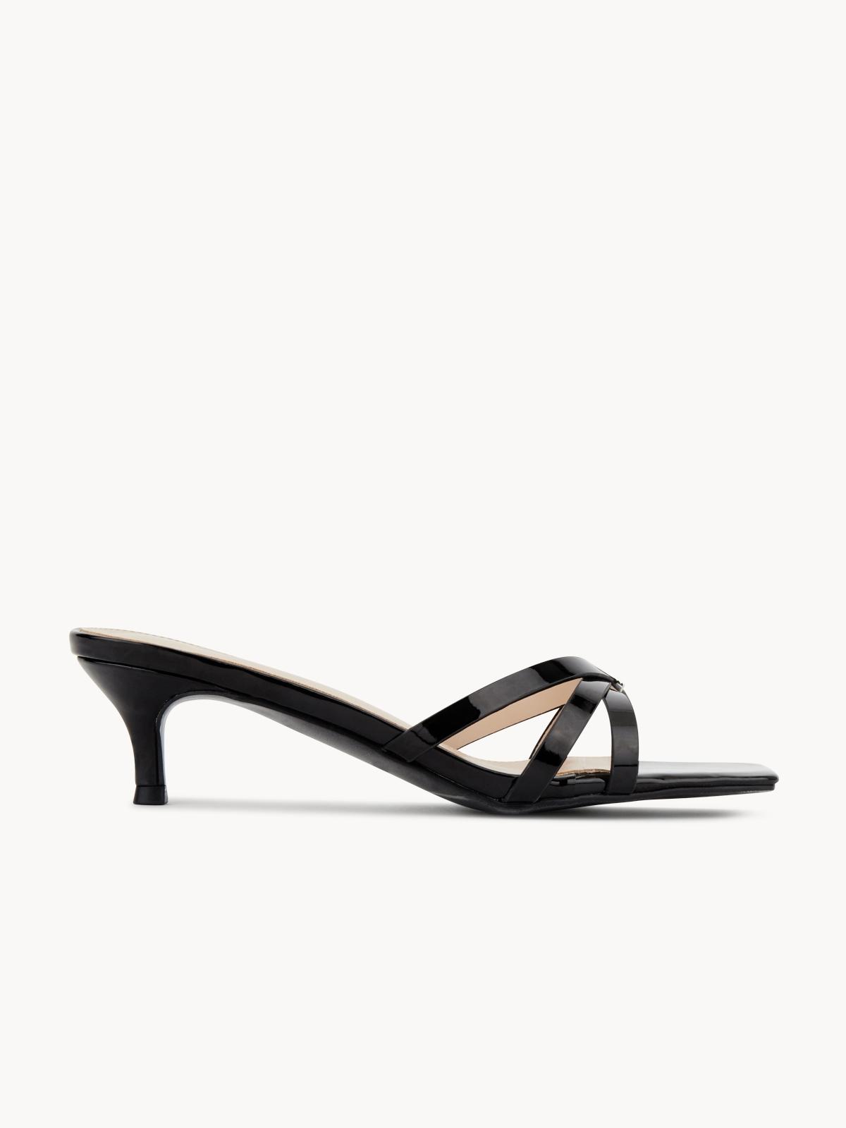 Starkela Tied Strips Sandal Heels Black