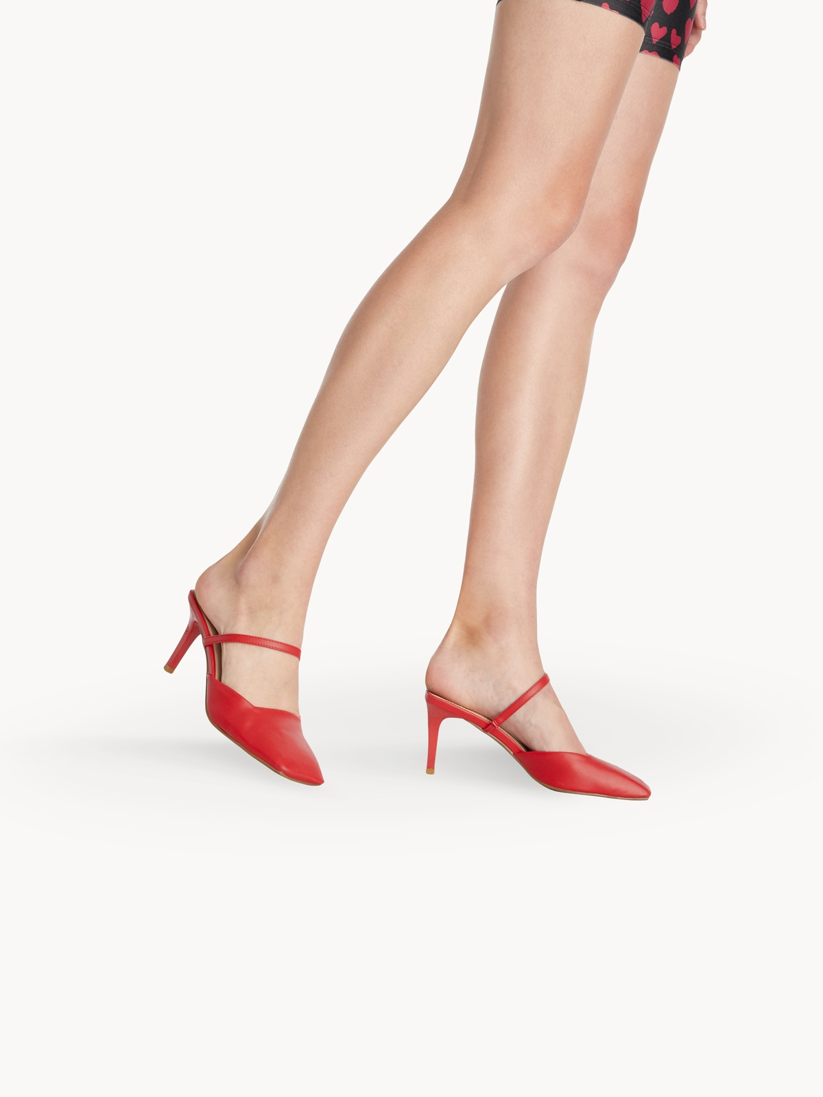 Starkela Square Cutted Heels Red