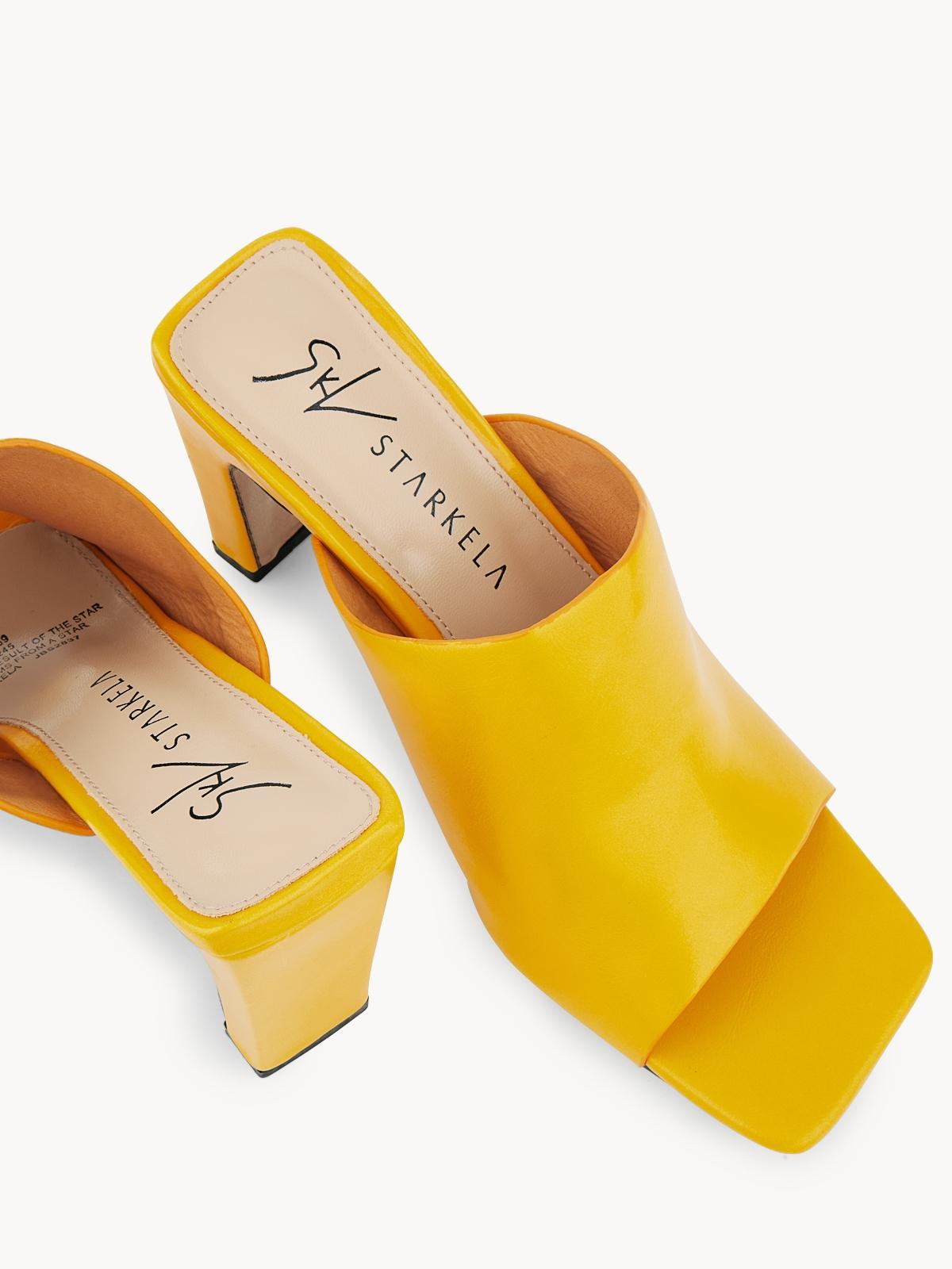Starkela Single Strap Heels Yellow