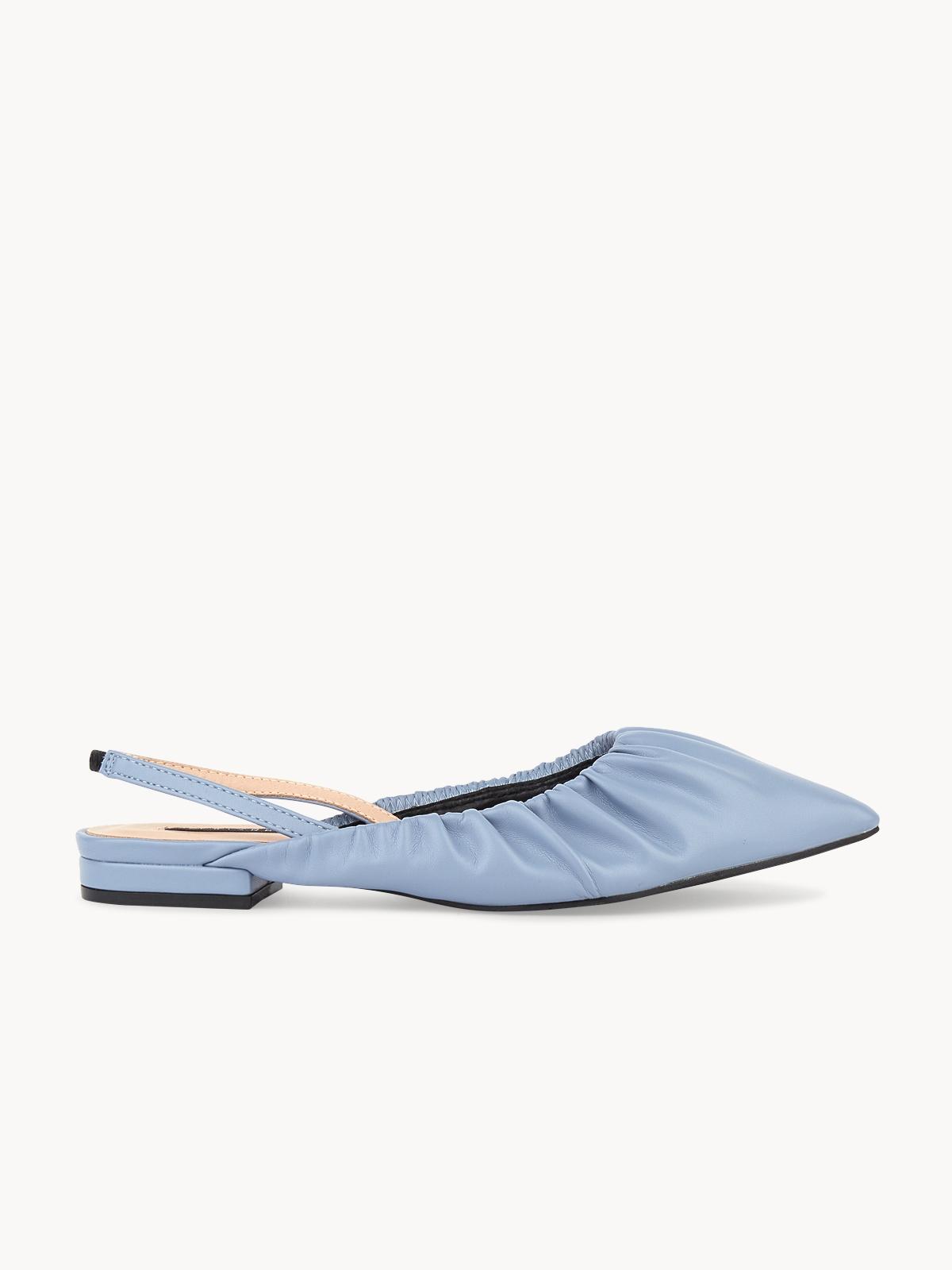 Starkela Flat Slingback Mules Blue
