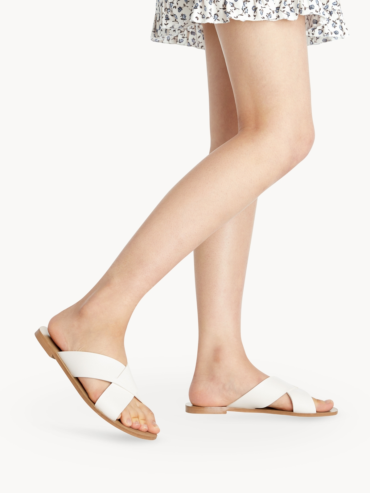 Femme Studio Amber Sandals White