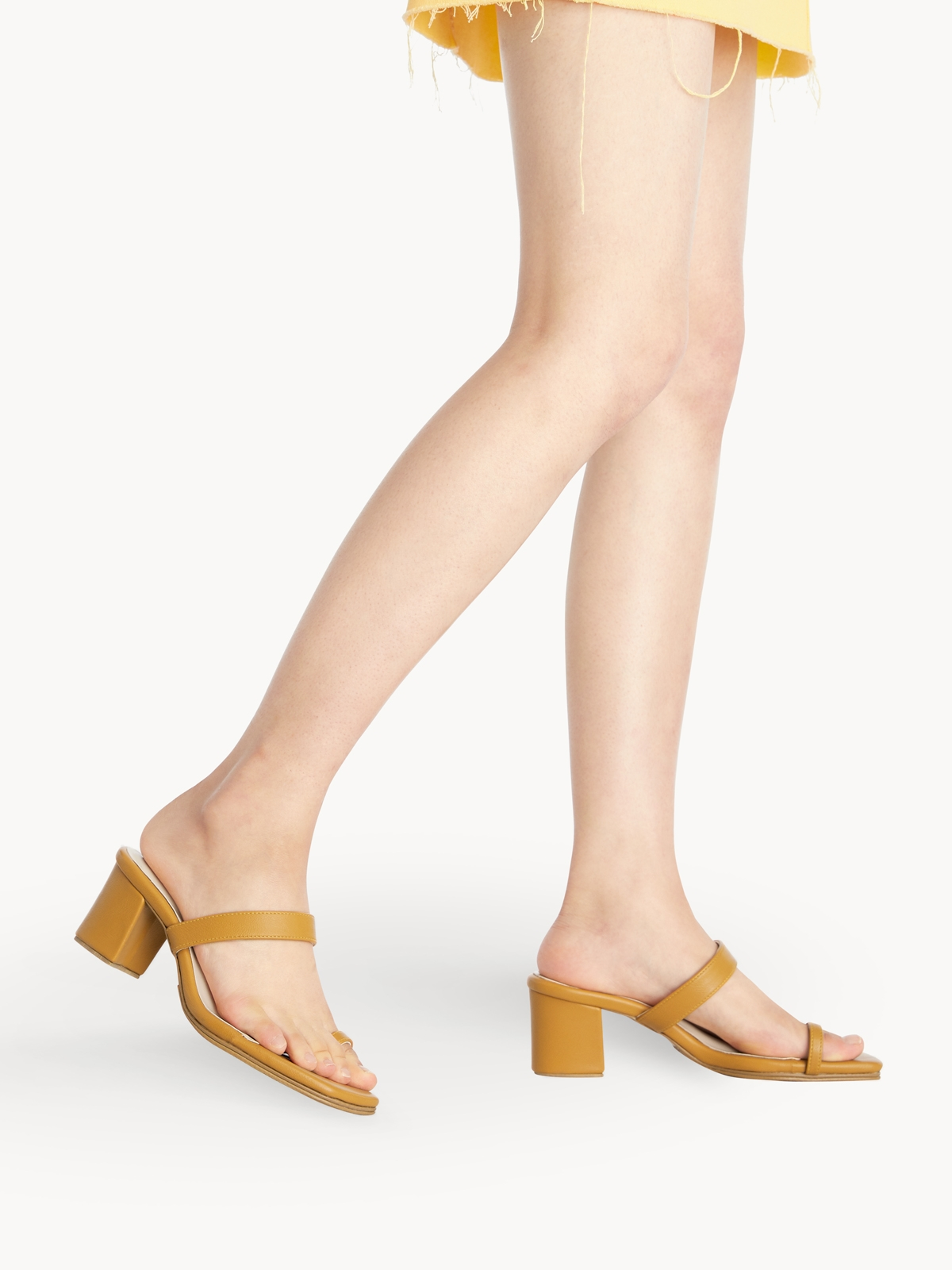 Femme Studio Charlotte Block Heels Yellow