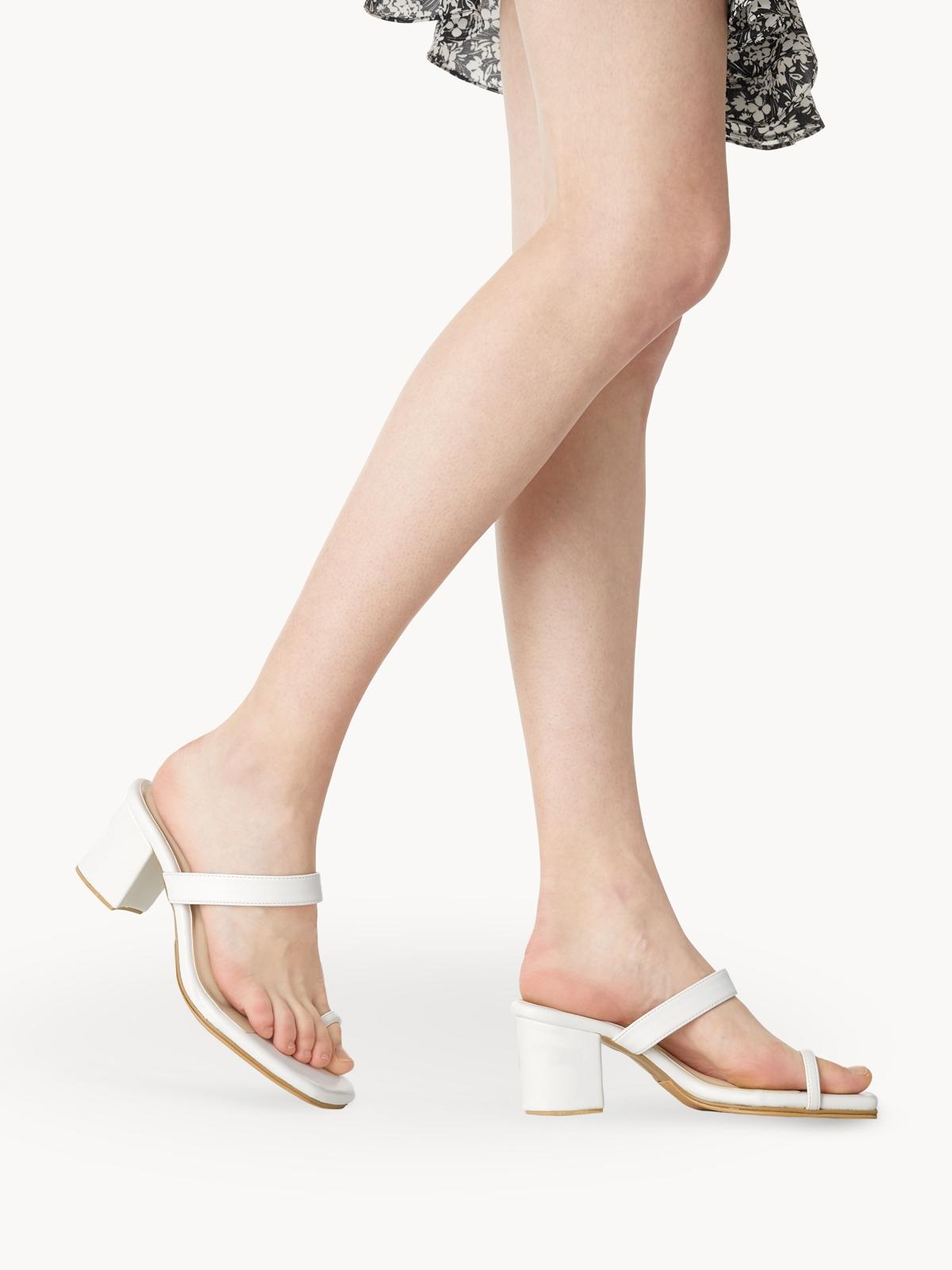 Femme Studio Charlotte Block Heels White