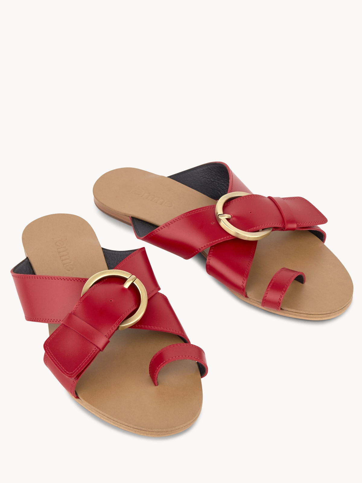 Femme Studio Femme Classic Sandals Red