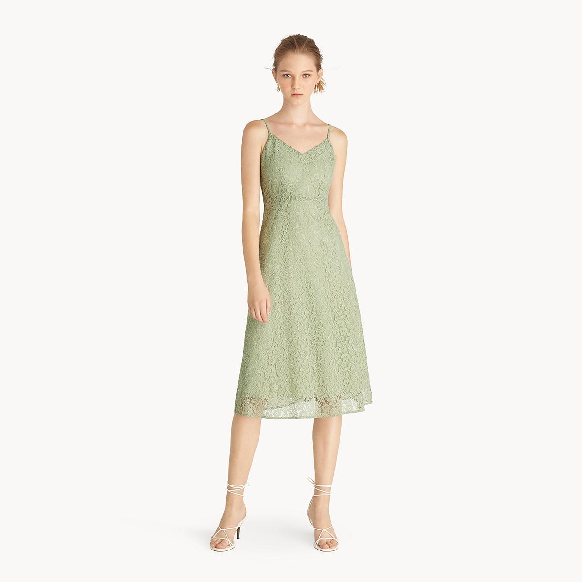 Lace Cami Dress Green
