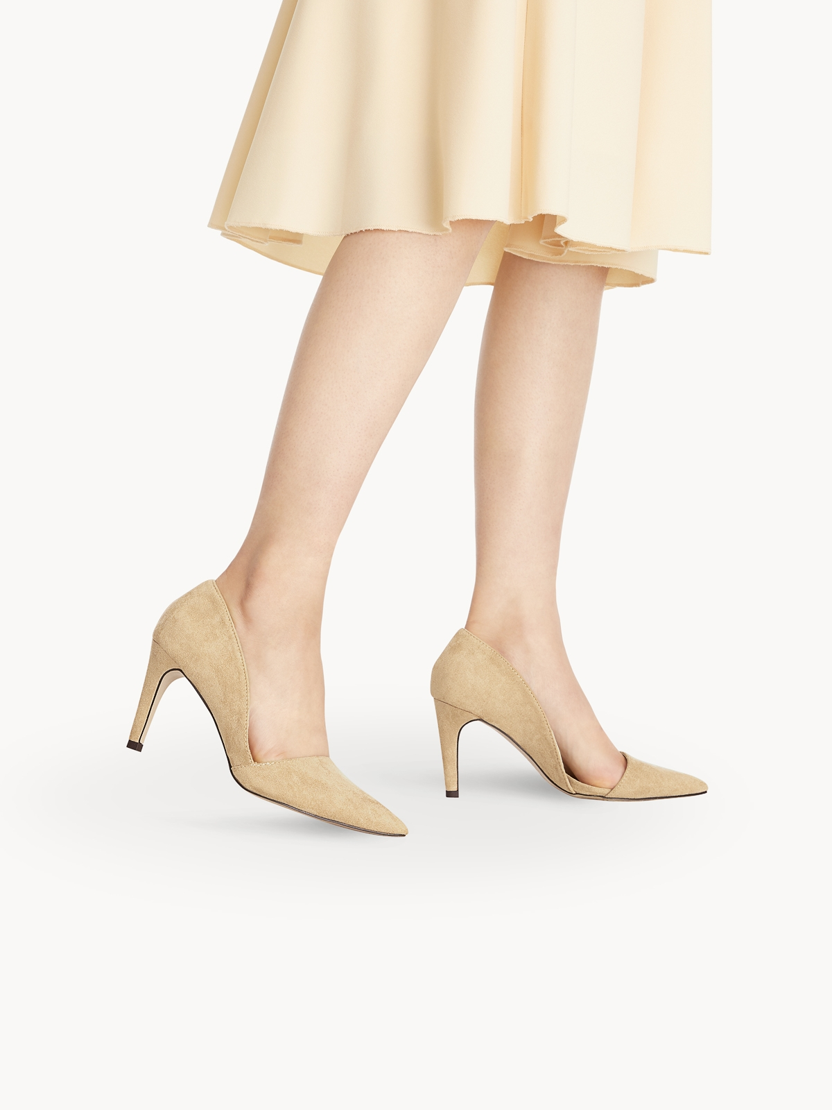 Starkela Pointed High Heels Nude