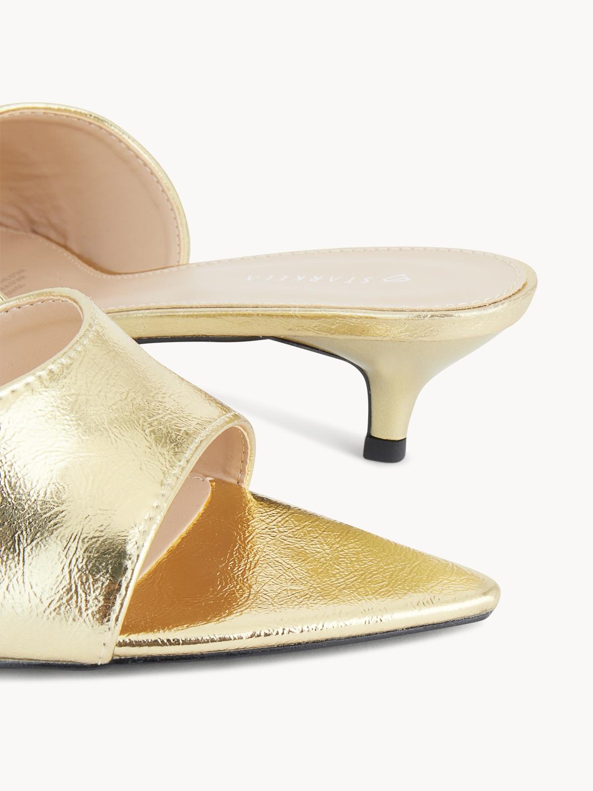 Starkela Mule Mid Heels Gold