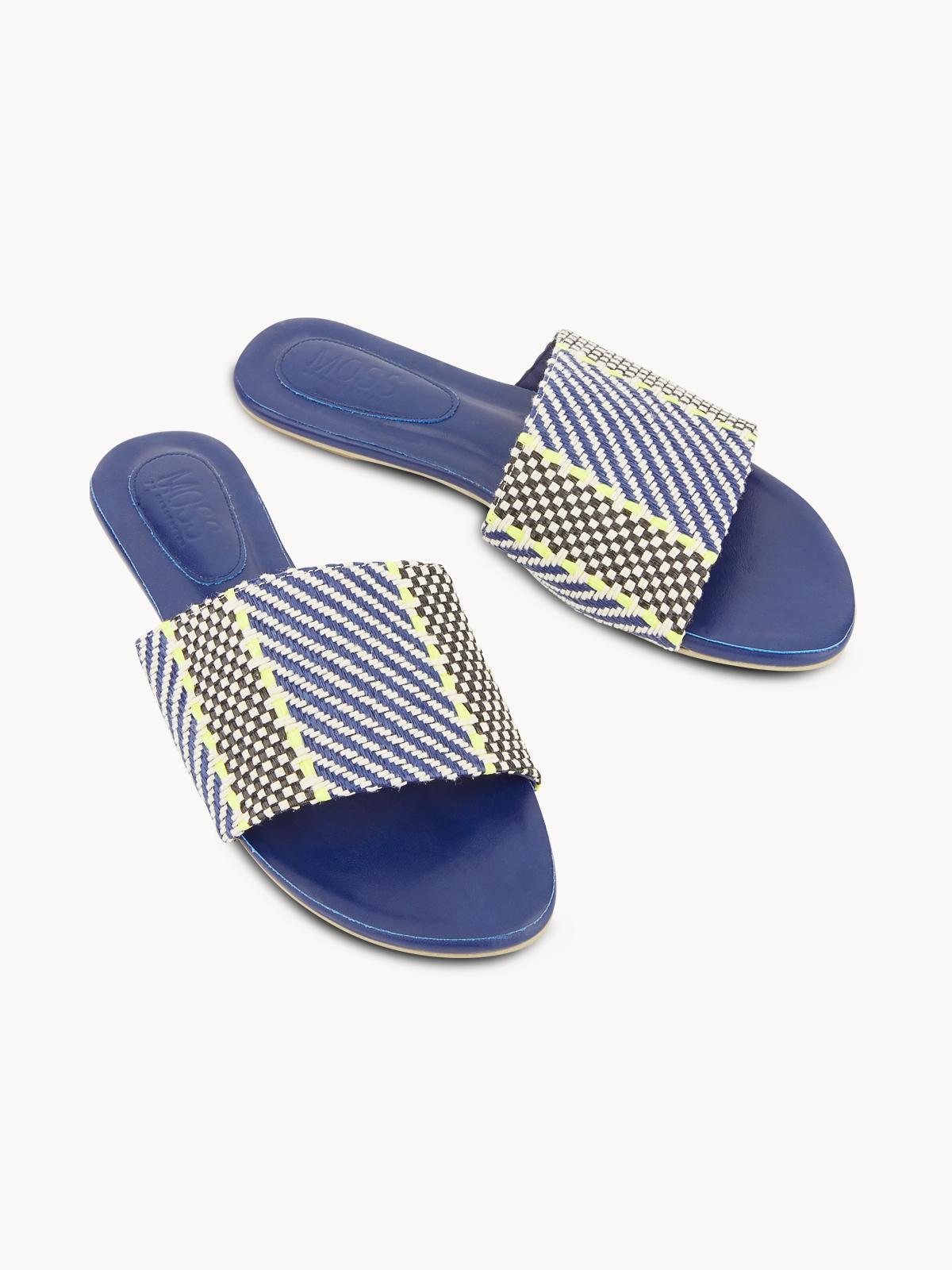 Mosstories Weave Sandals Navy
