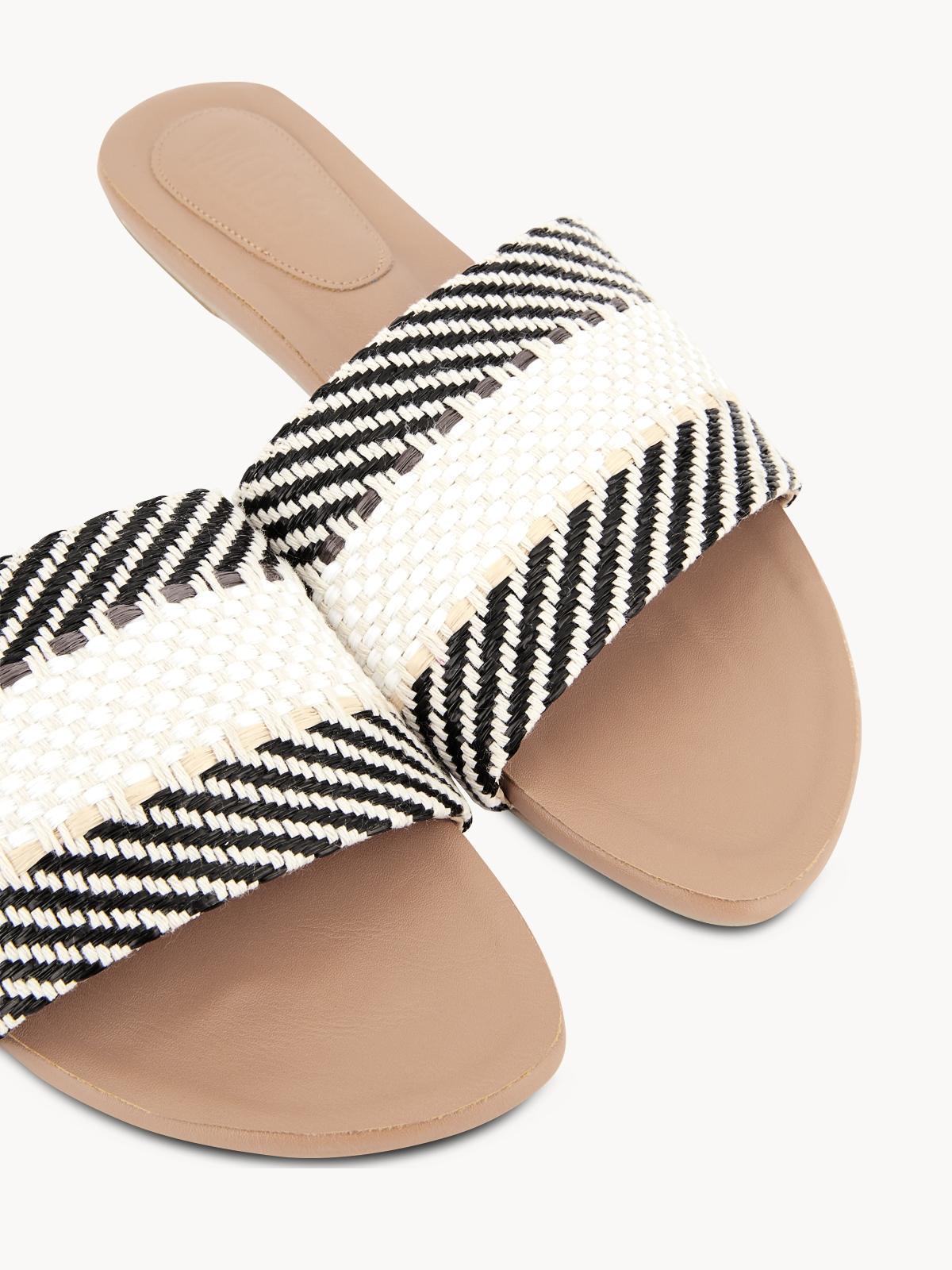 Mosstories Weave Sandals Beige