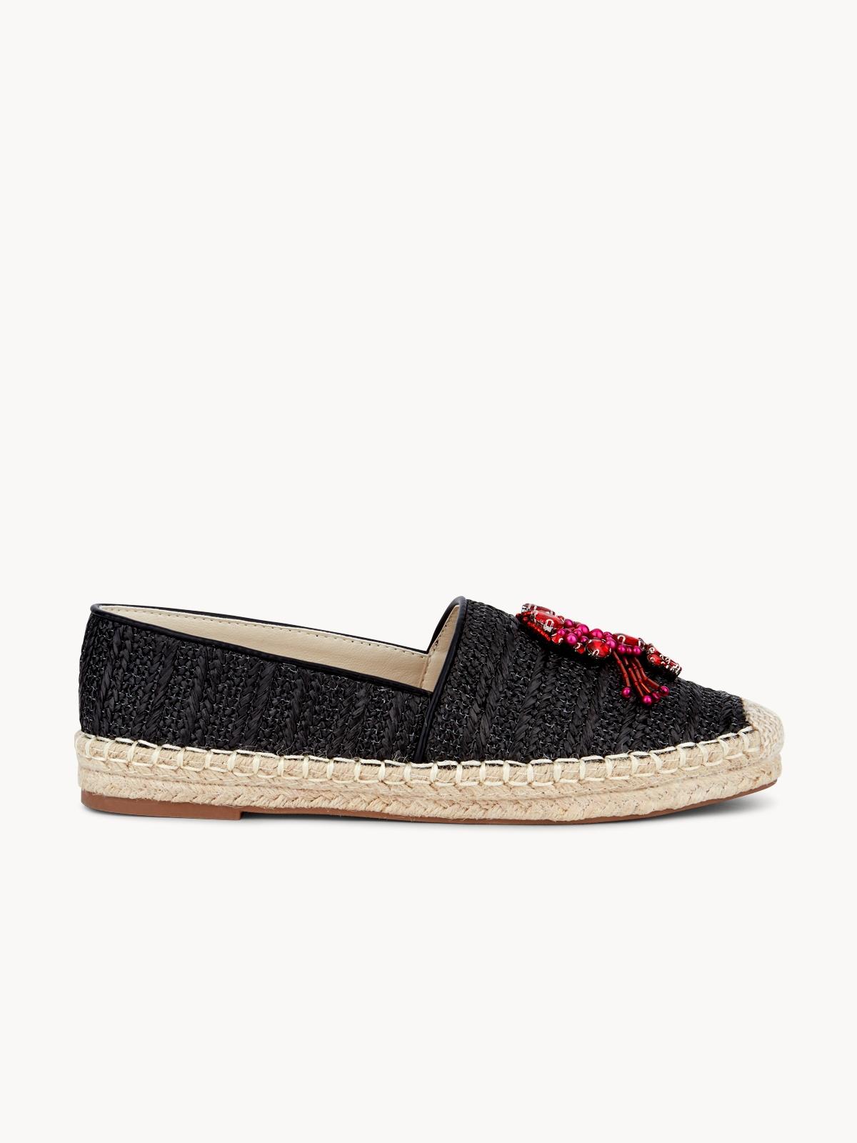 March Shoes Lobster Espadrilles Black