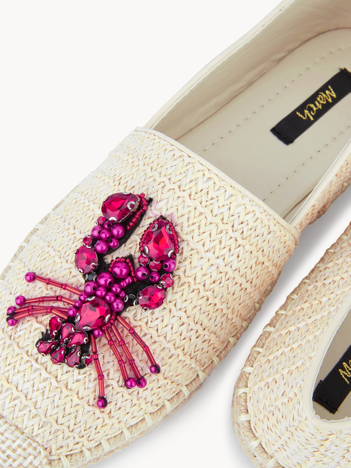 March Shoes Lobster Espadrilles Cream