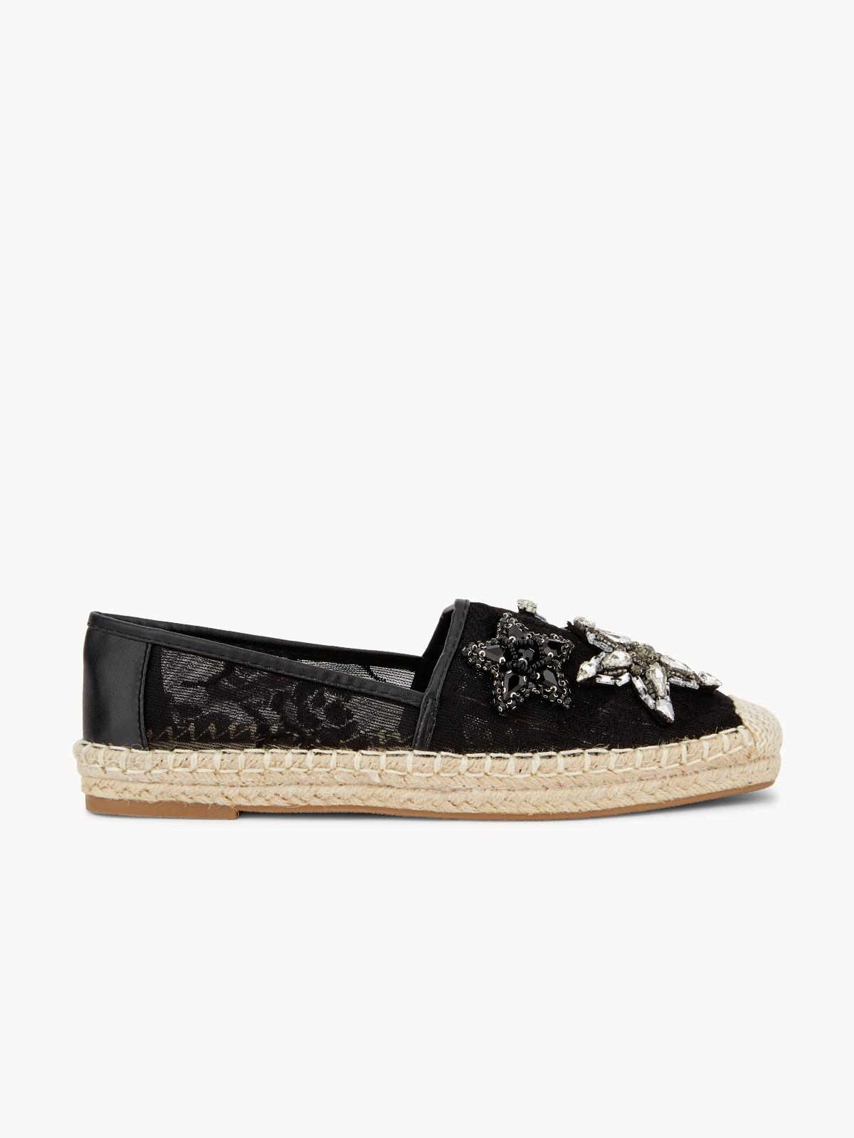 March Shoes Starfish Espadrilles Black