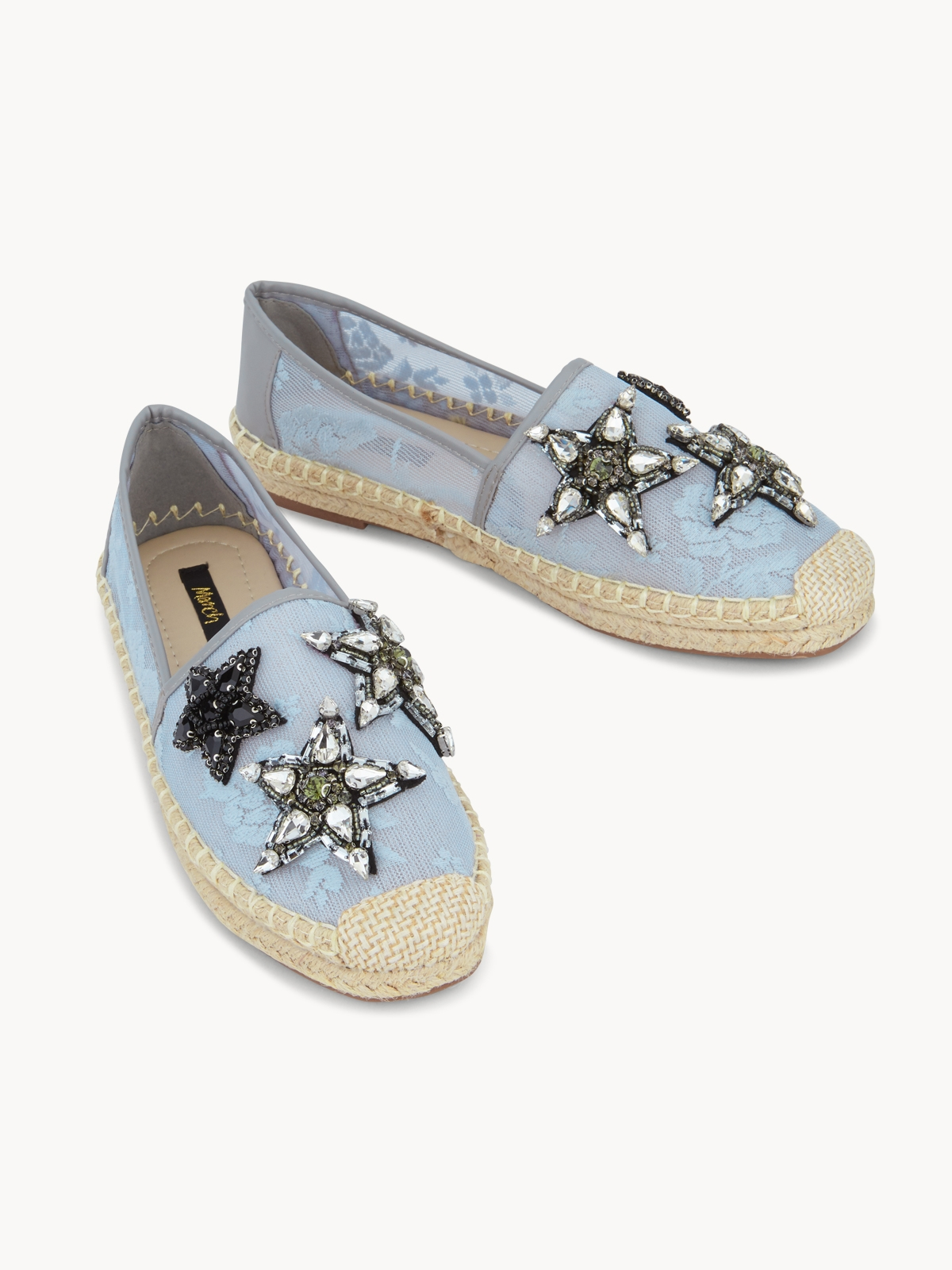 March Shoes Starfish Espadrilles Light Grey