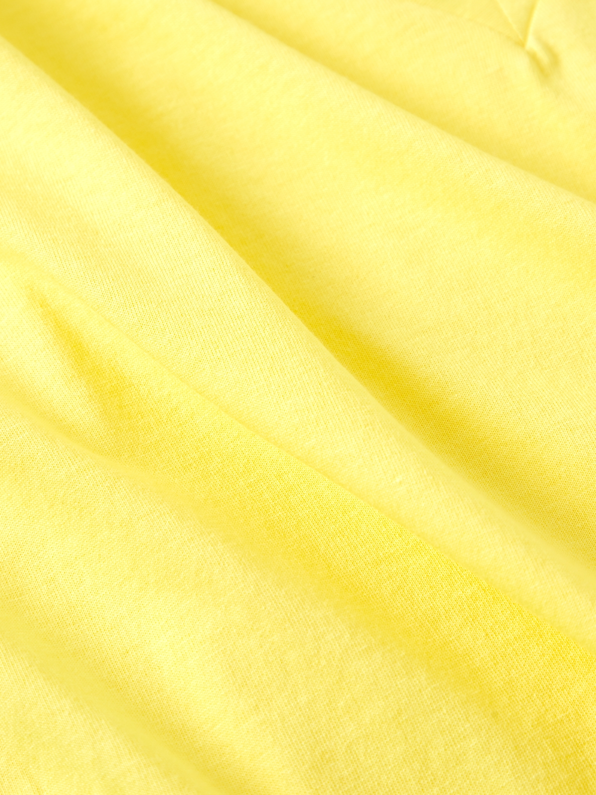 Cropped VNeck Tee Yellow