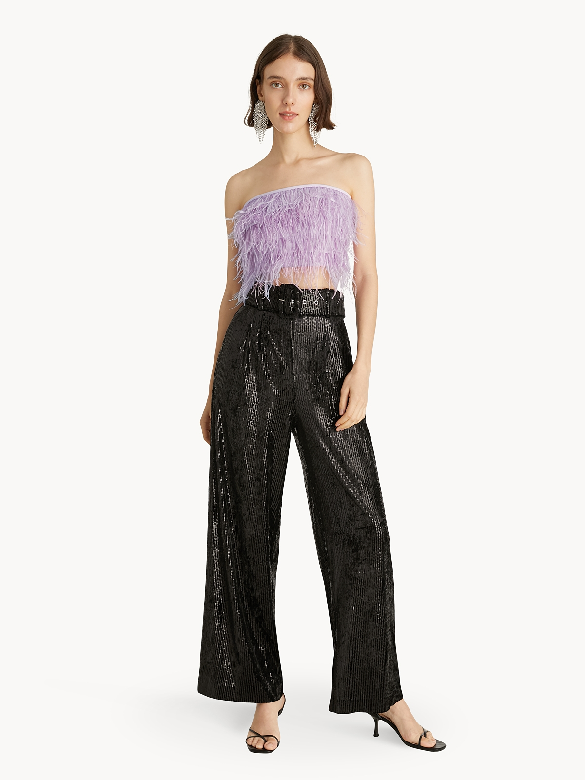 Feather Tube Top Purple