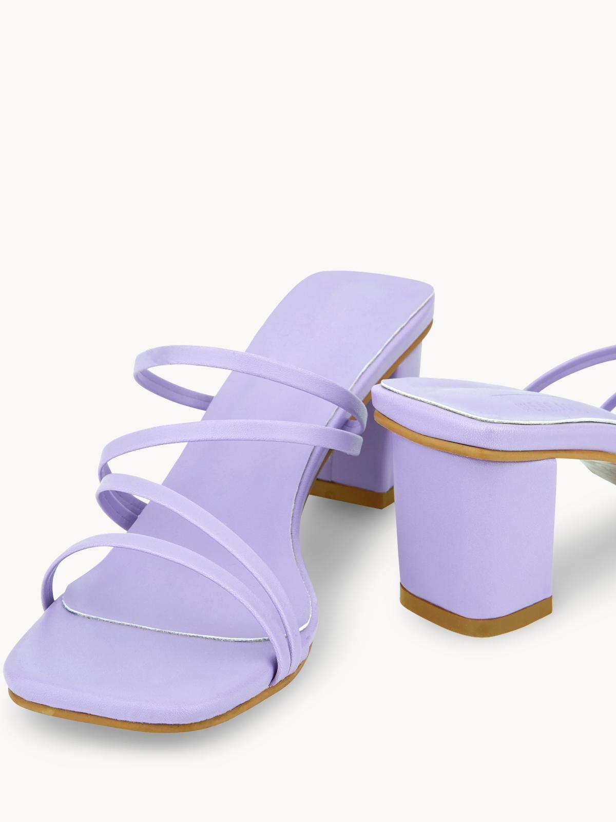 Pomelo x Wear Soul Strapped Heels Purple